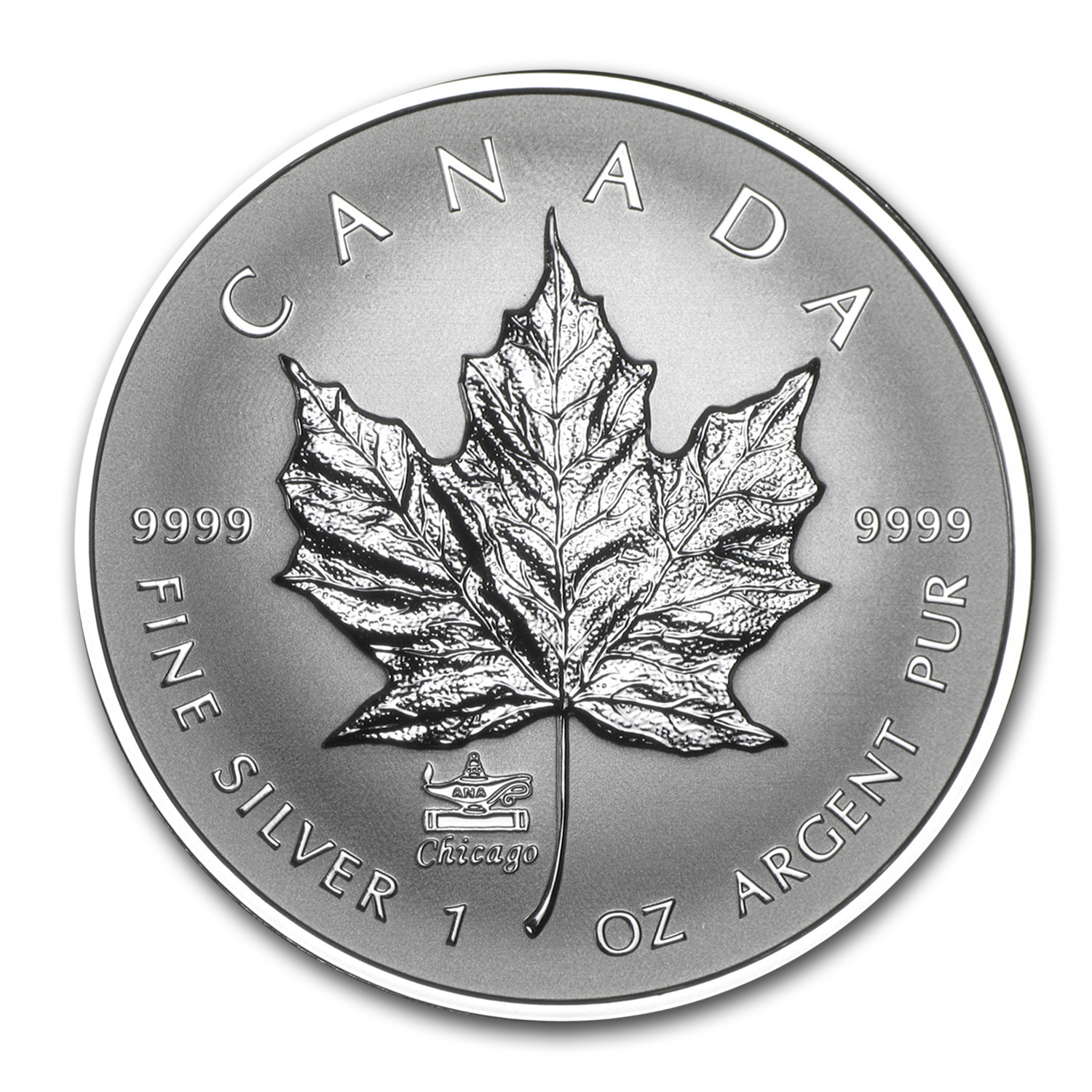 2014 Canada 1 oz Rev Proof Silver Maple Leaf ANA Privy Mark