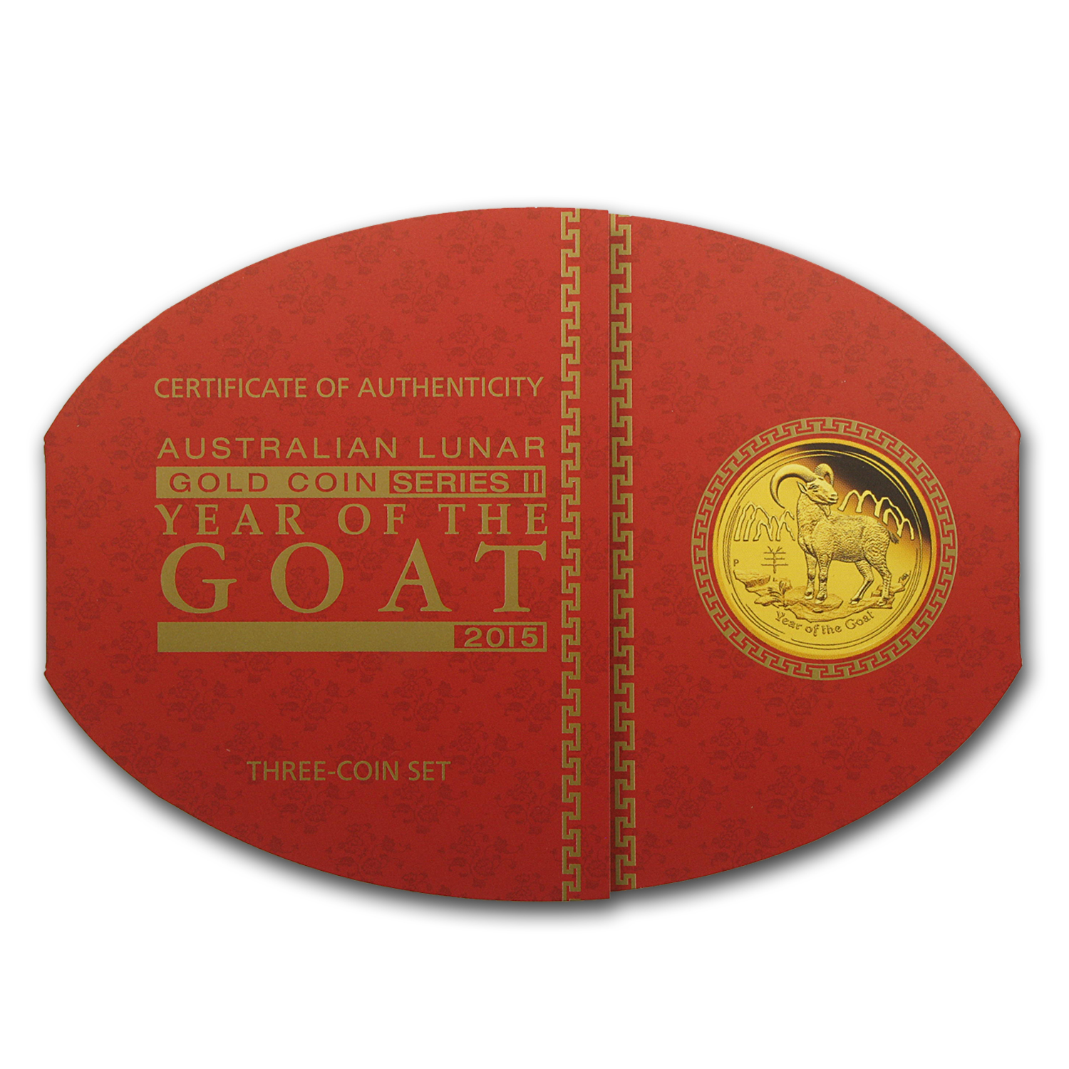 2015 Australia 3-Coin Gold Lunar Goat Proof Set (1.35 oz)