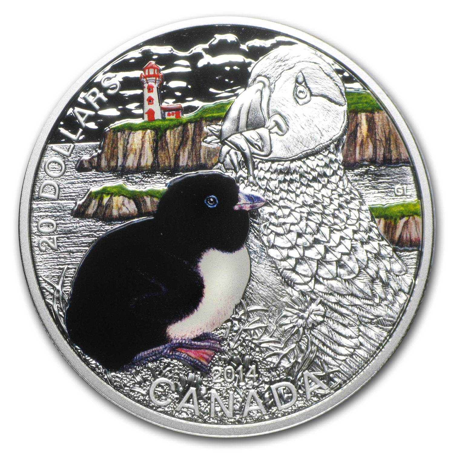 2014 1 oz Silver Canadian $20 Baby Animals (Atlantic Puffin)