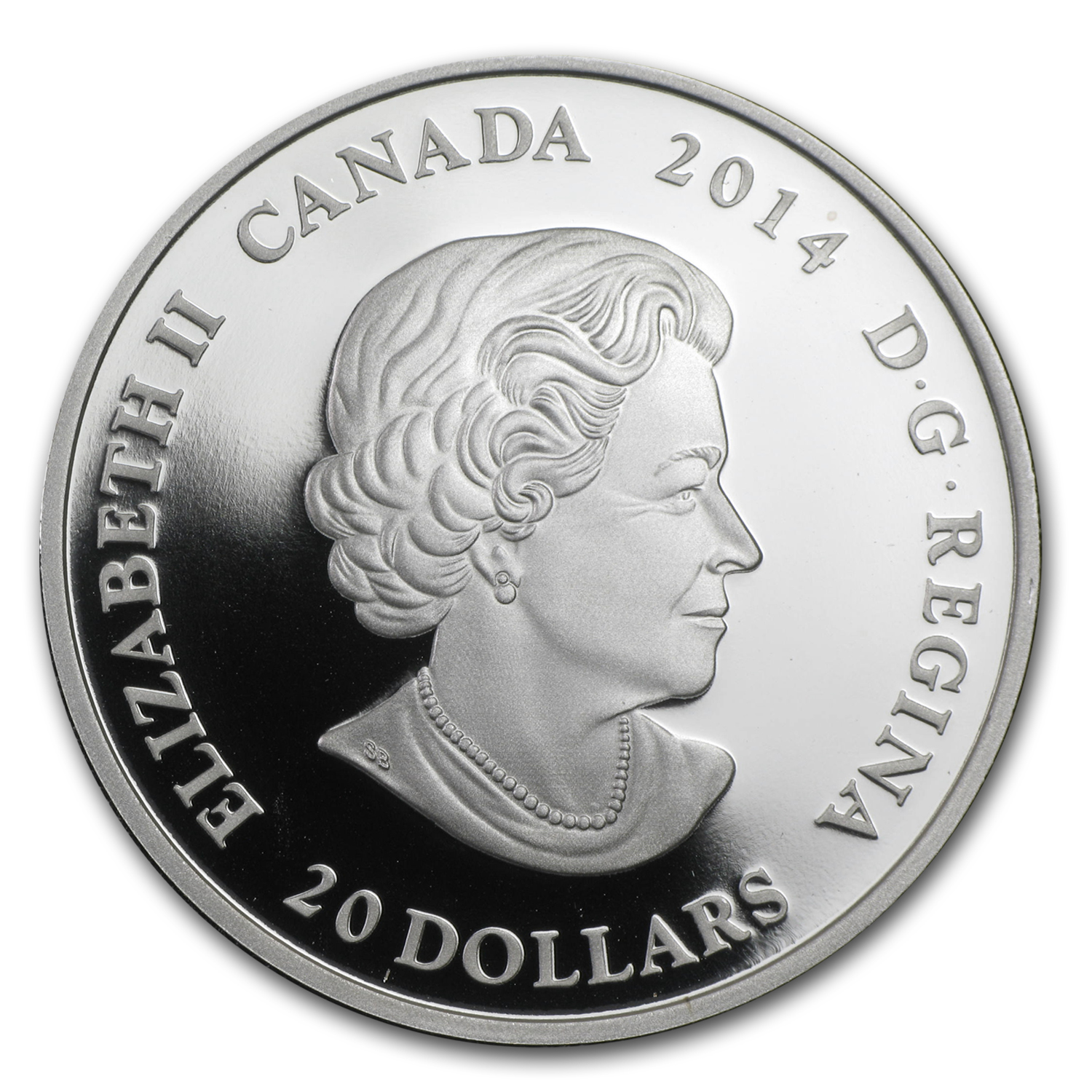 2014 Canada 1 oz Silver $20 Casa Loma Stained Glass