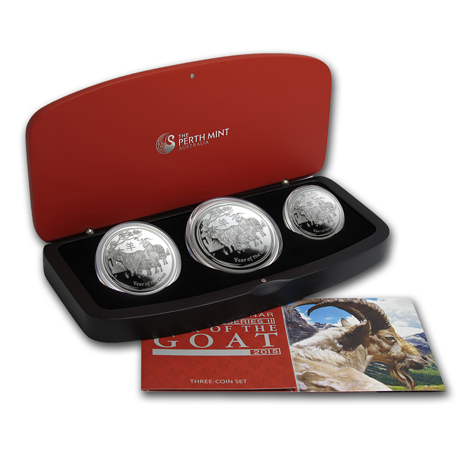 2015 Australia 3-Coin Silver Lunar Goat Proof Set