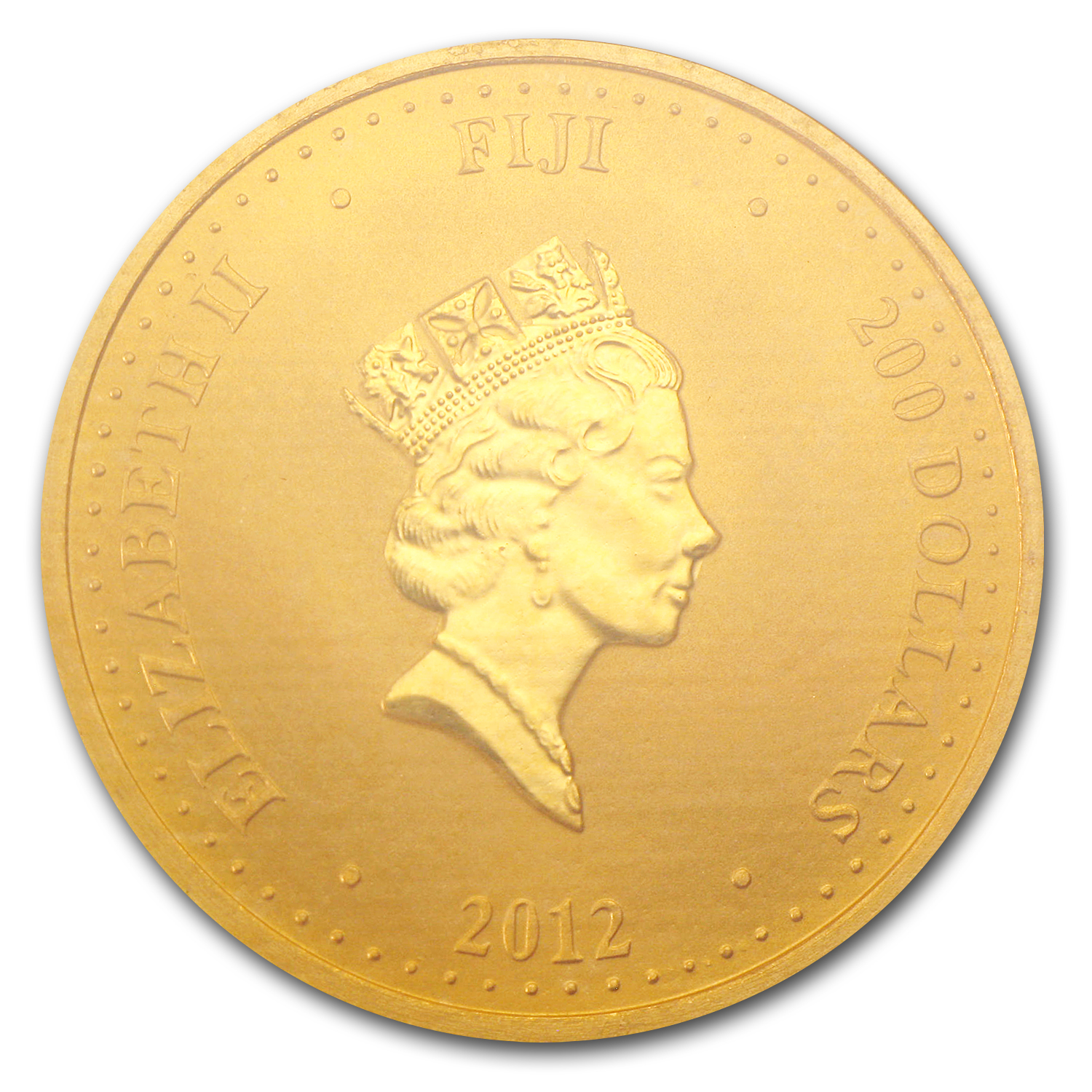 2012 Fiji 1 oz Gold $200 Taku BU (In Assay)
