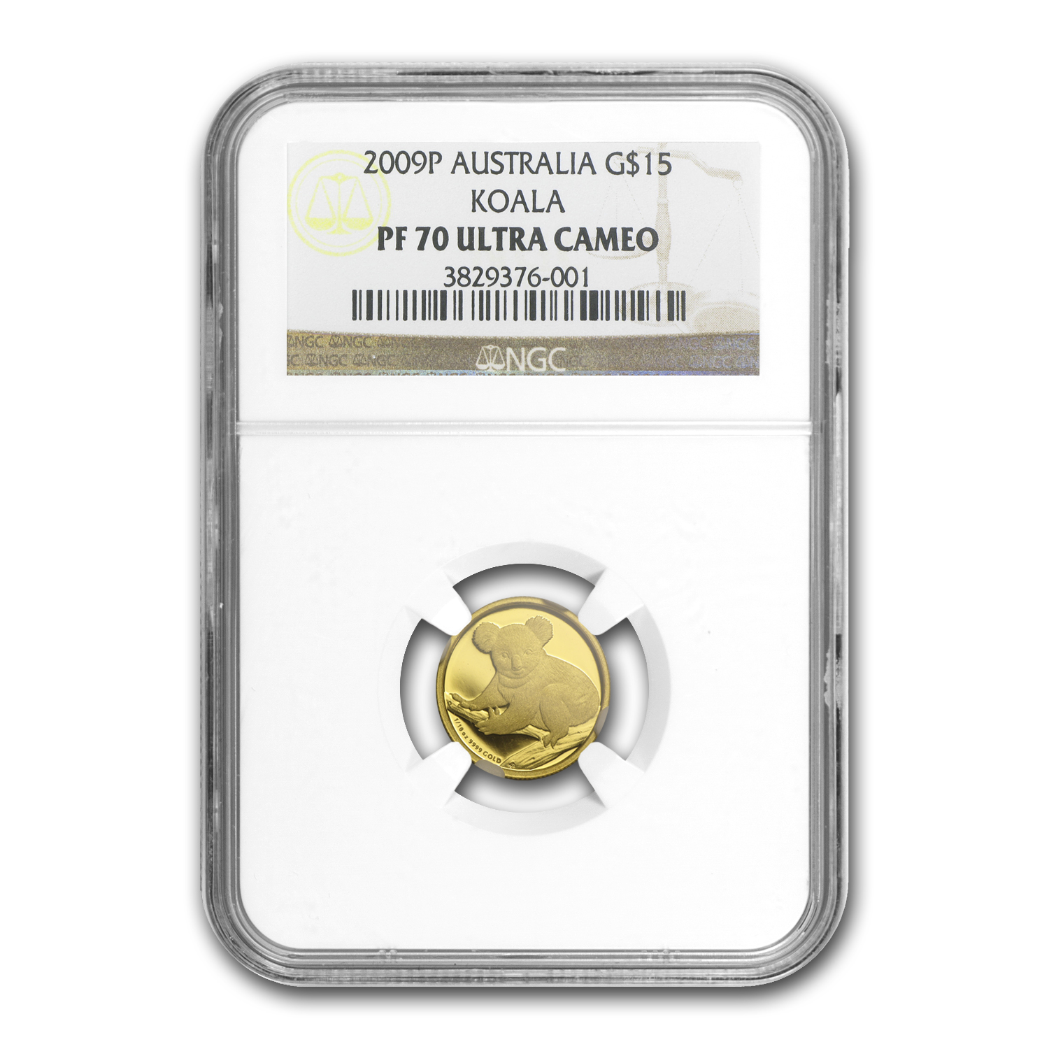 2009 1/10 oz Proof Gold Koala NGC PF-70 UCAM