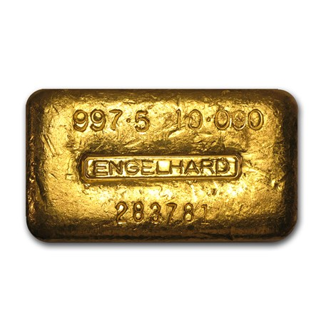 10 Oz Gold Bar Engelhard Loaf Style Poured 997 5 Fine