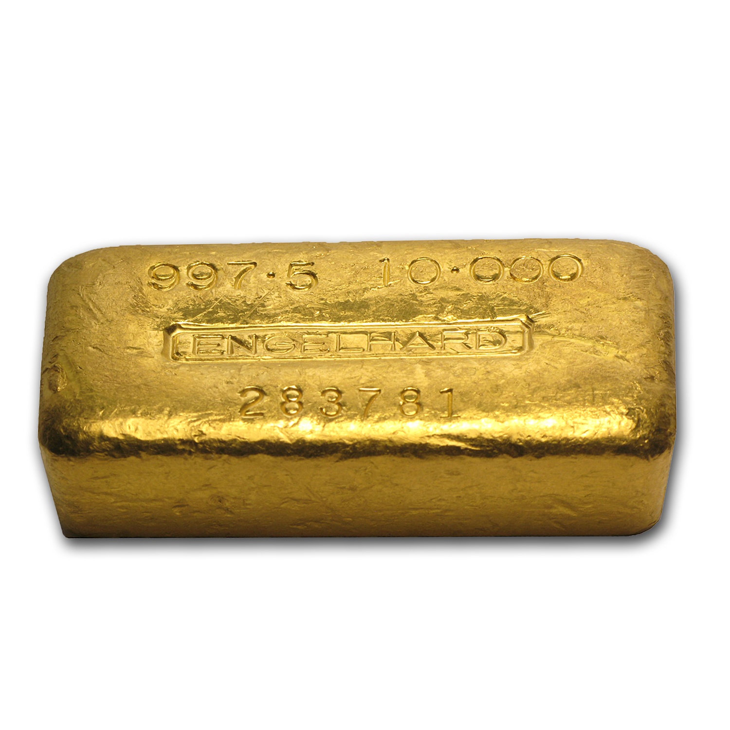 10 Oz Gold Bar Engelhard Loaf Style Poured 997 5 Fine