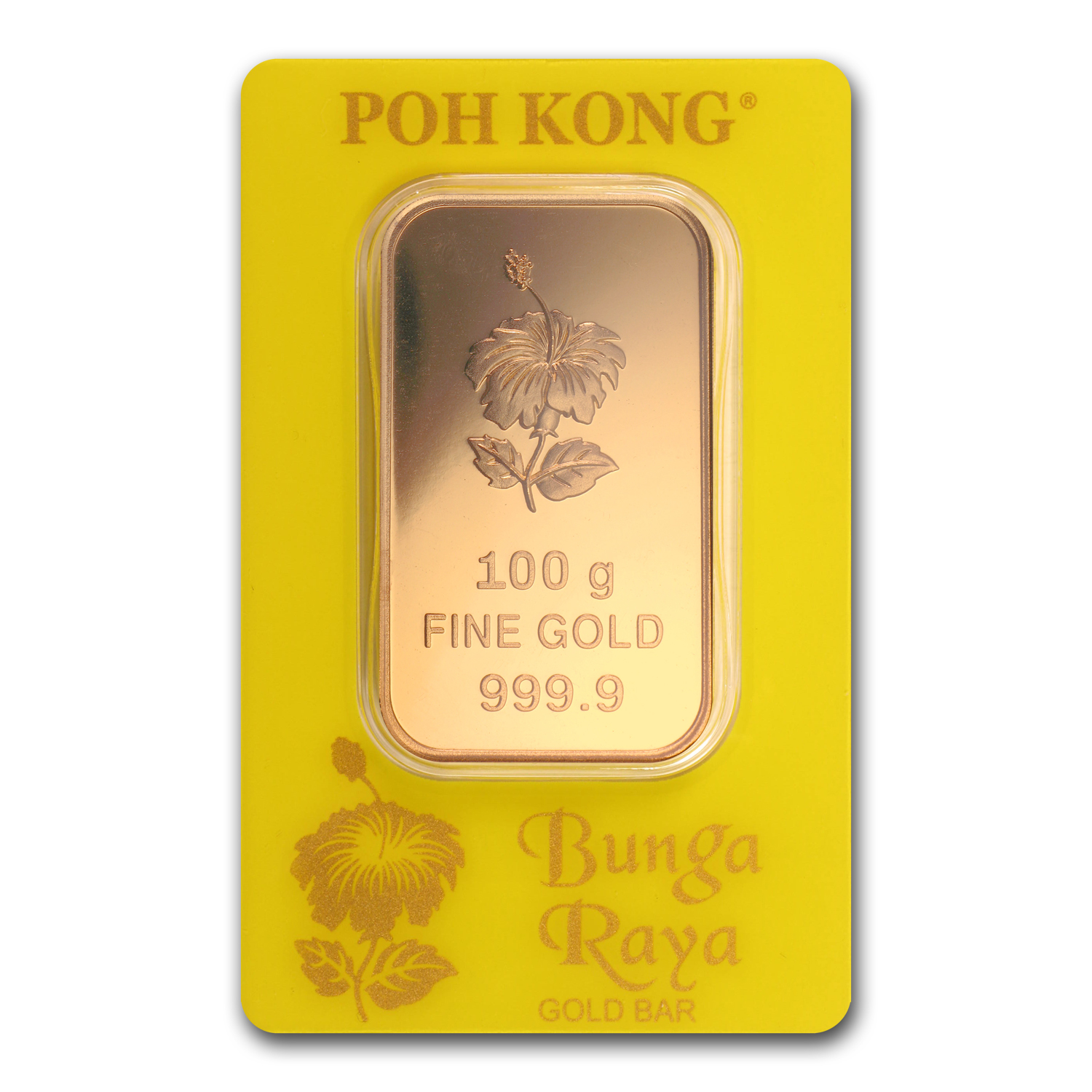 100 gram Gold Bar - Poh Kong (In Assay)