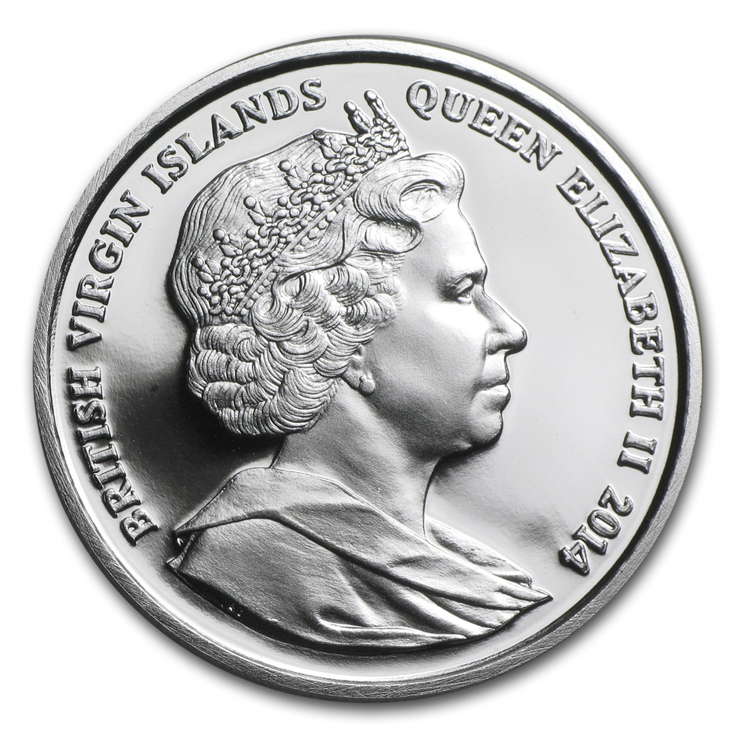 2014 British Virgin Islands Silver Baby Coin