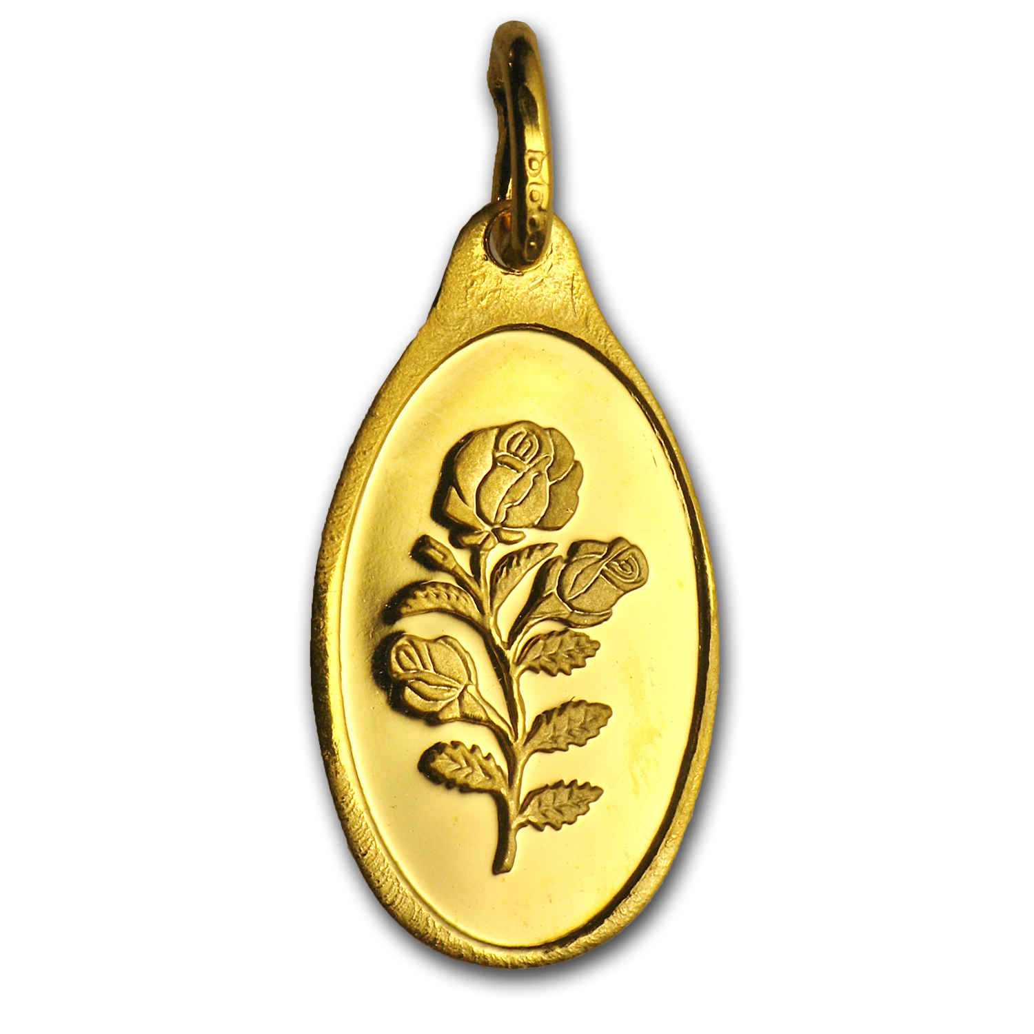 1 gram Gold Pendant - PAMP Suisse (Rose, Oval, No Assay)