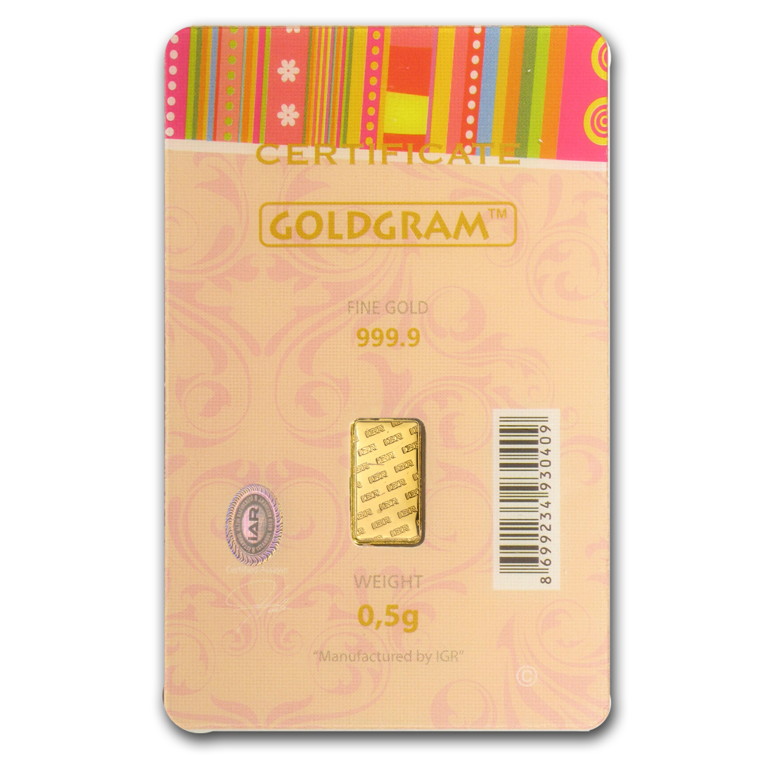 1/2 gram Gold Bar - Istanbul Gold Refinery (Birthday Assay)