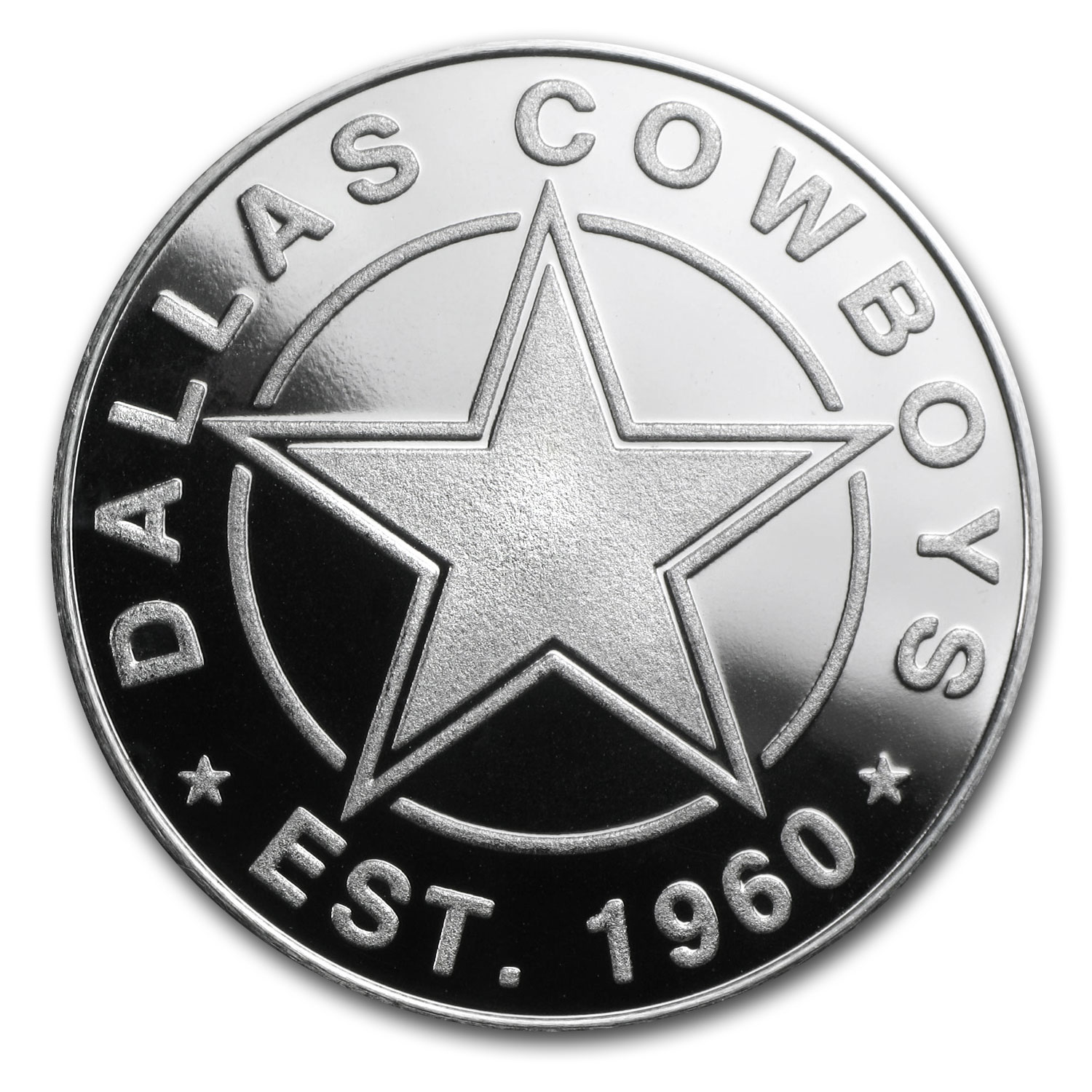 1 oz Silver Round - Dallas Cowboys
