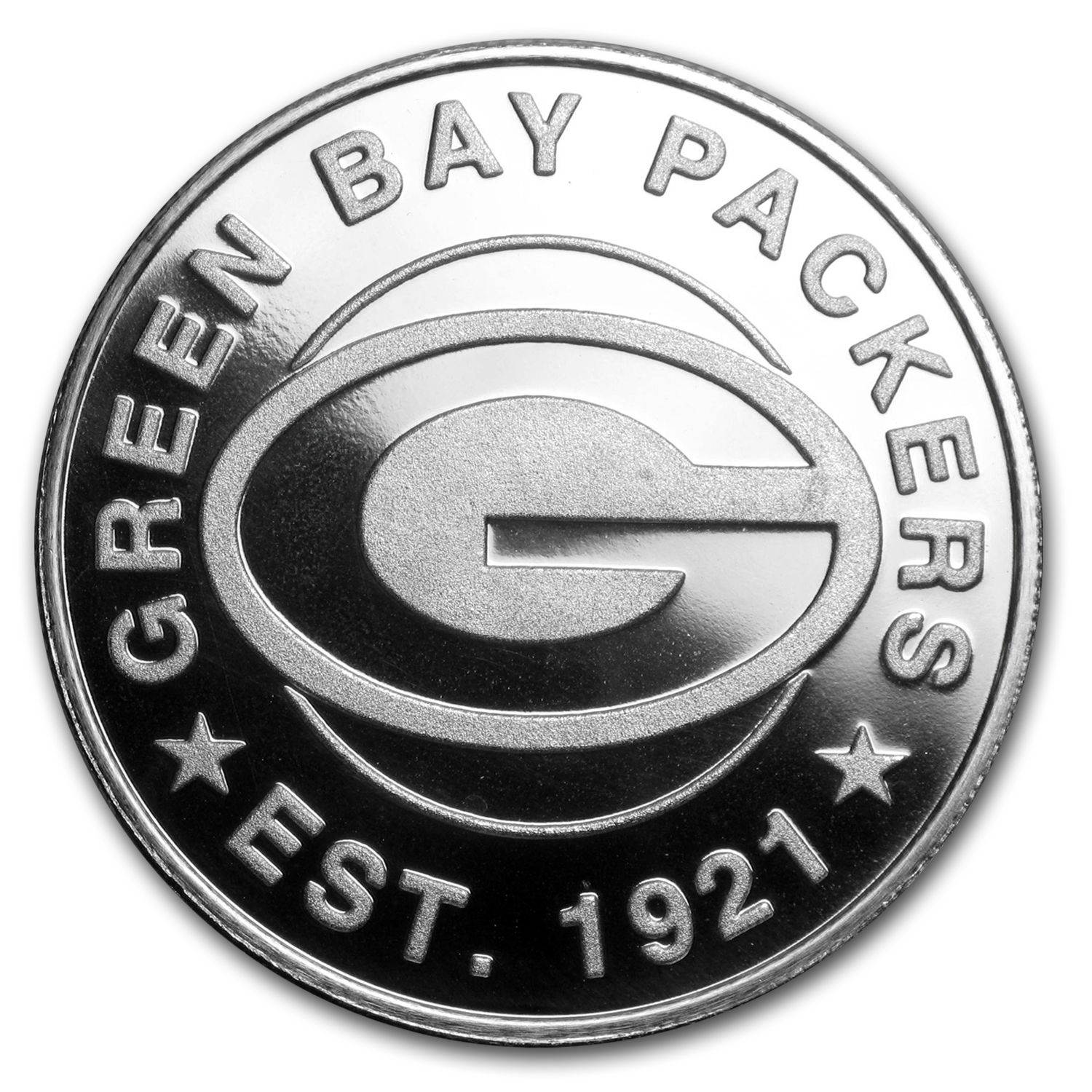 1 oz Silver Round - Green Bay Packers
