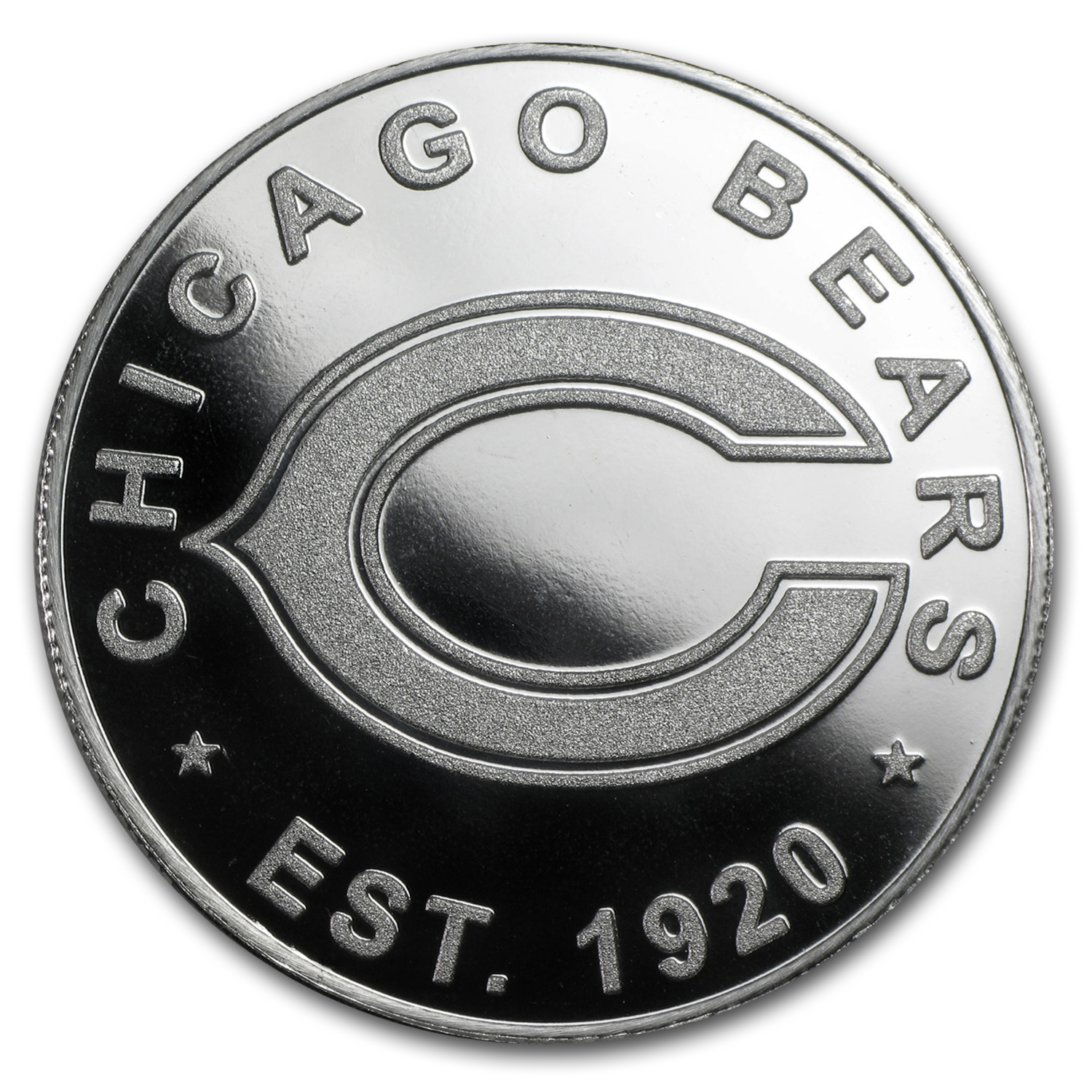 1 oz Silver Round - Chicago Bears
