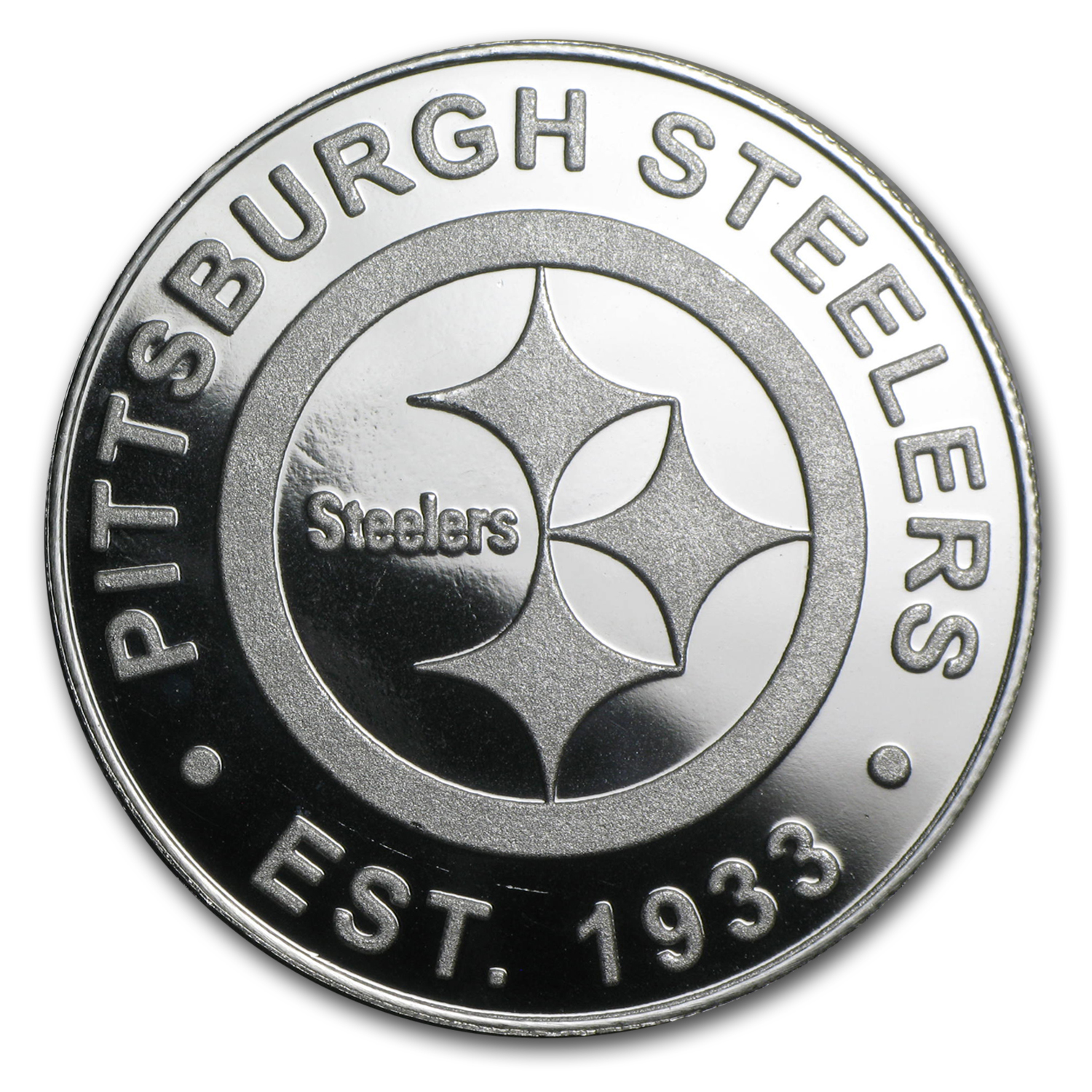 1 oz Silver Round - Pittsburgh Steelers