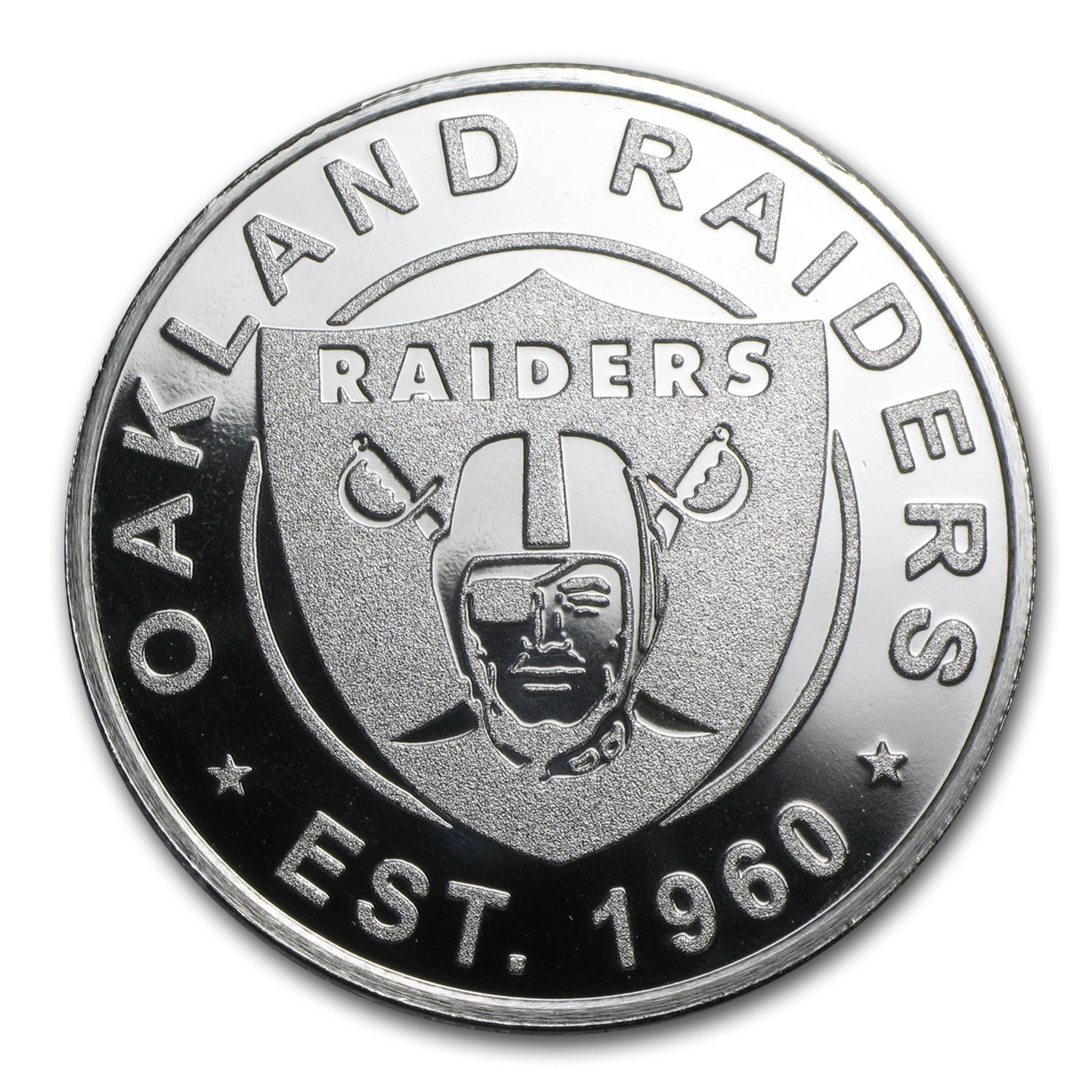 1 oz Silver Round - Oakland Raiders