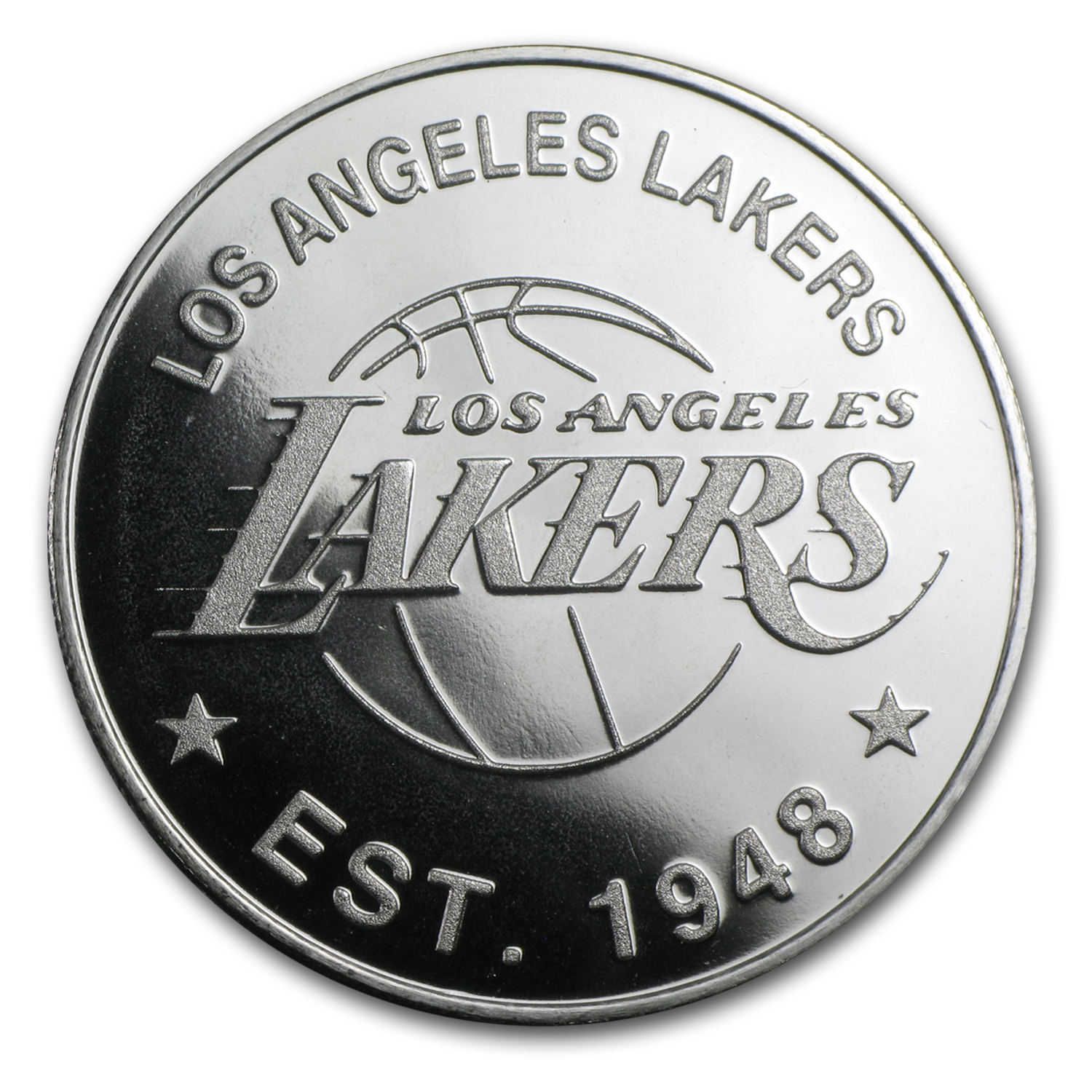 1 oz Silver Round - Los Angeles Lakers
