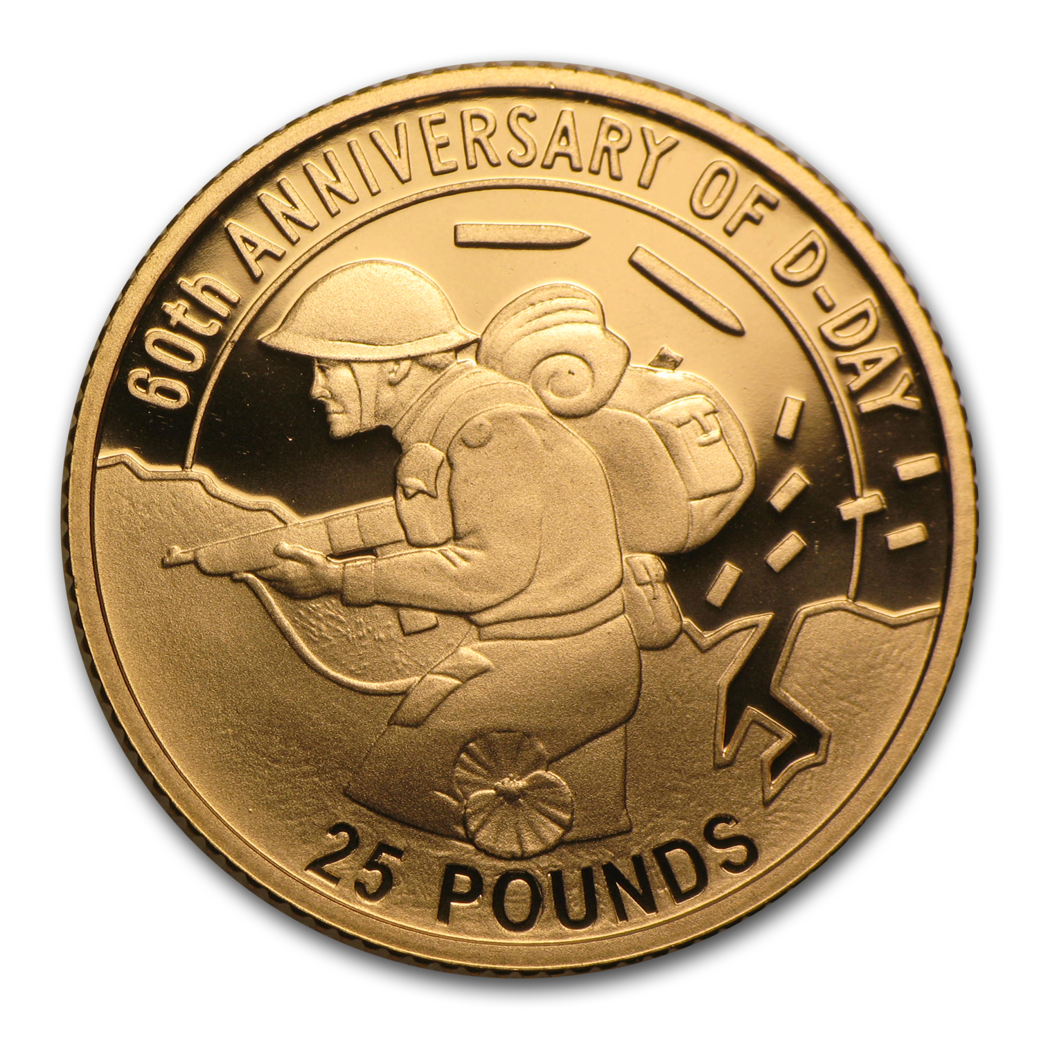 Guernsey 2004 £25 Gold D-Day Proof
