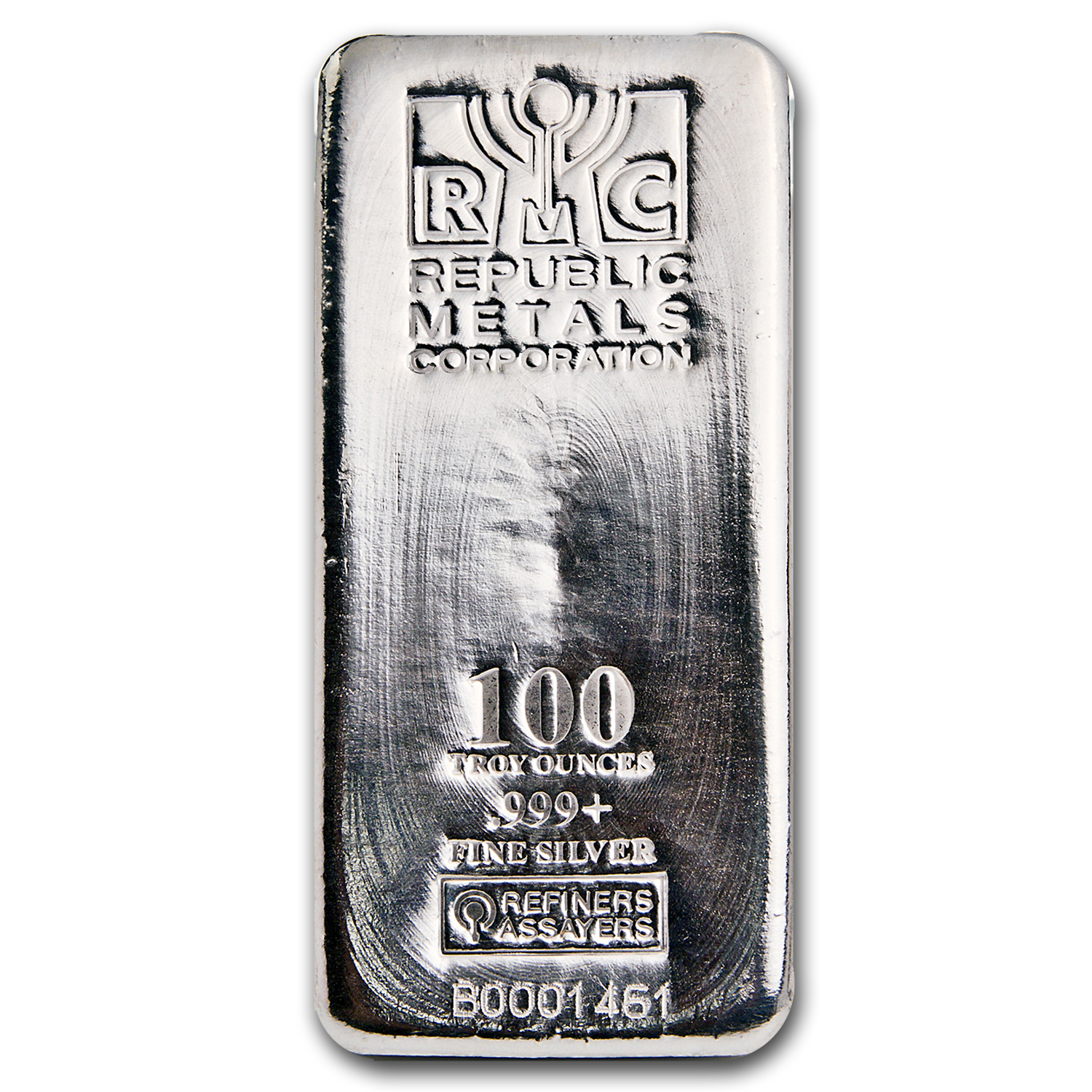 100 oz Silver Bar - Republic Metals Corp. (RMC)