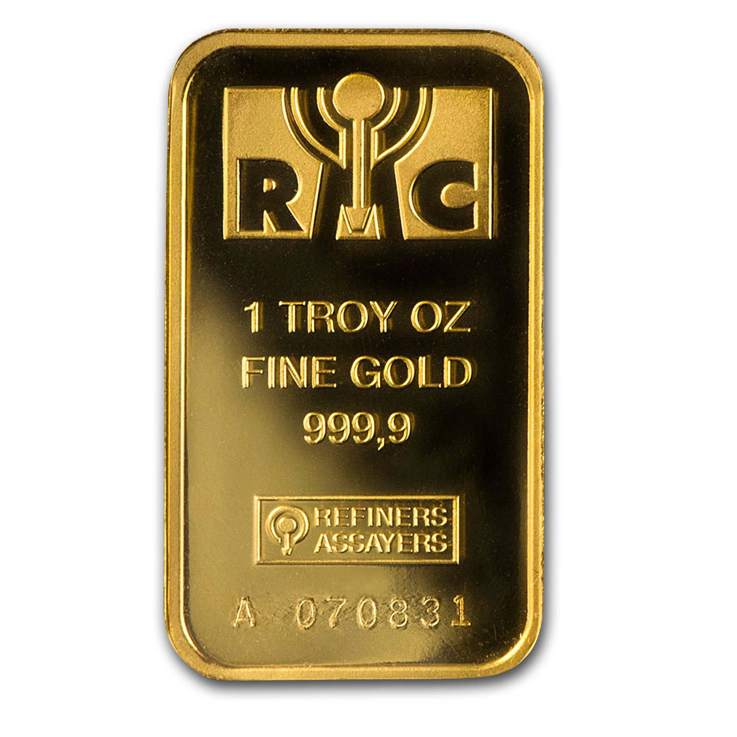 1 oz Gold Bar - Republic Metals Corporation (In Assay)