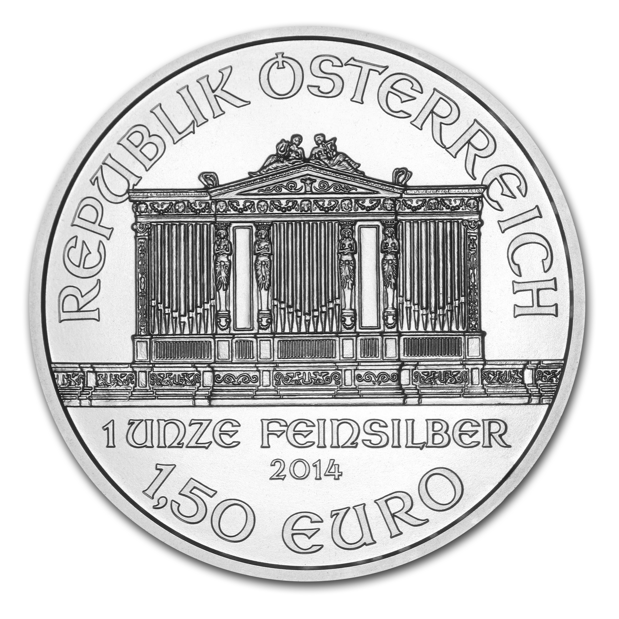 2014 1 oz Silver Austrian Philharmonic (Specially Sealed)