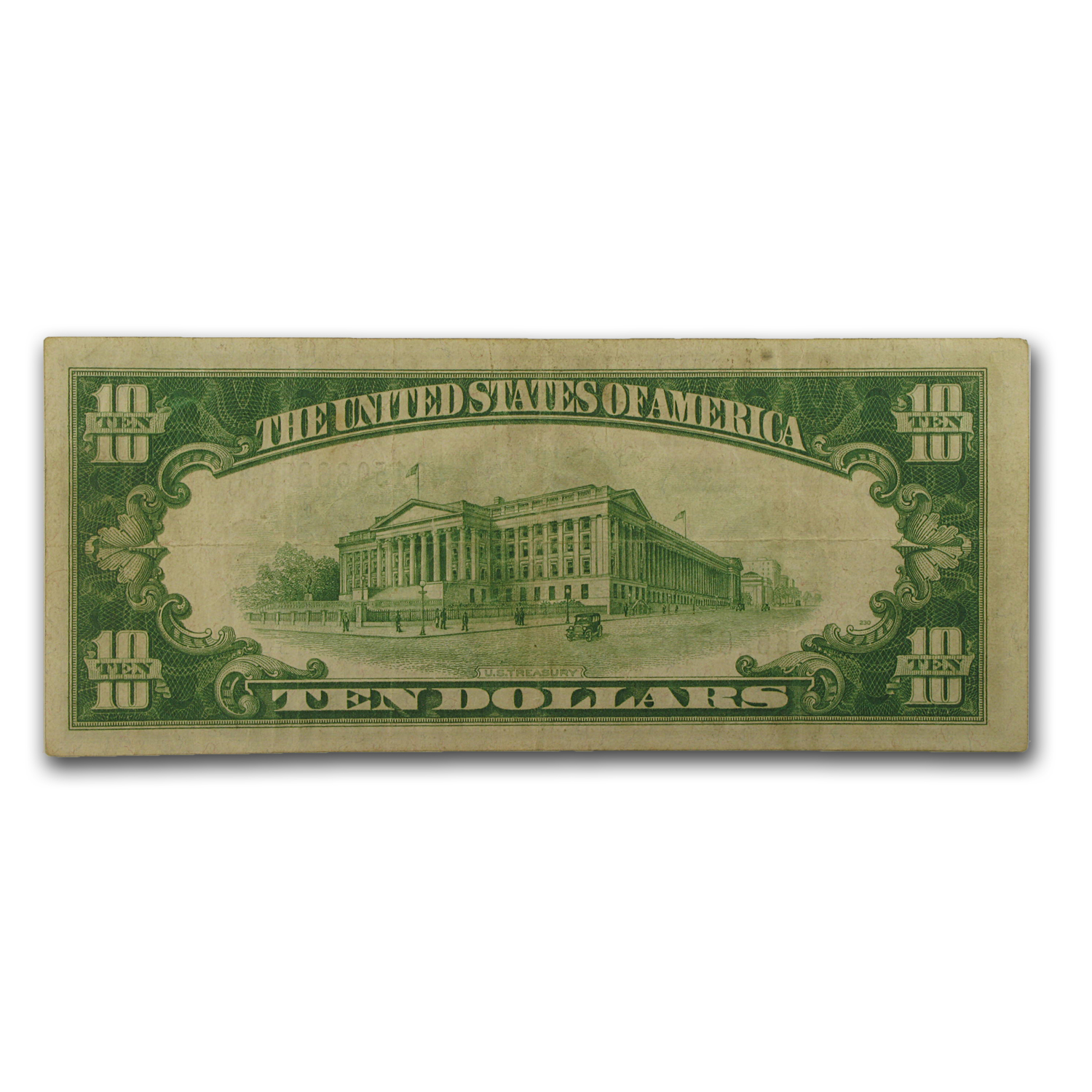 1928-A (7-Chicago) $10 FRN VF (Green Seal)