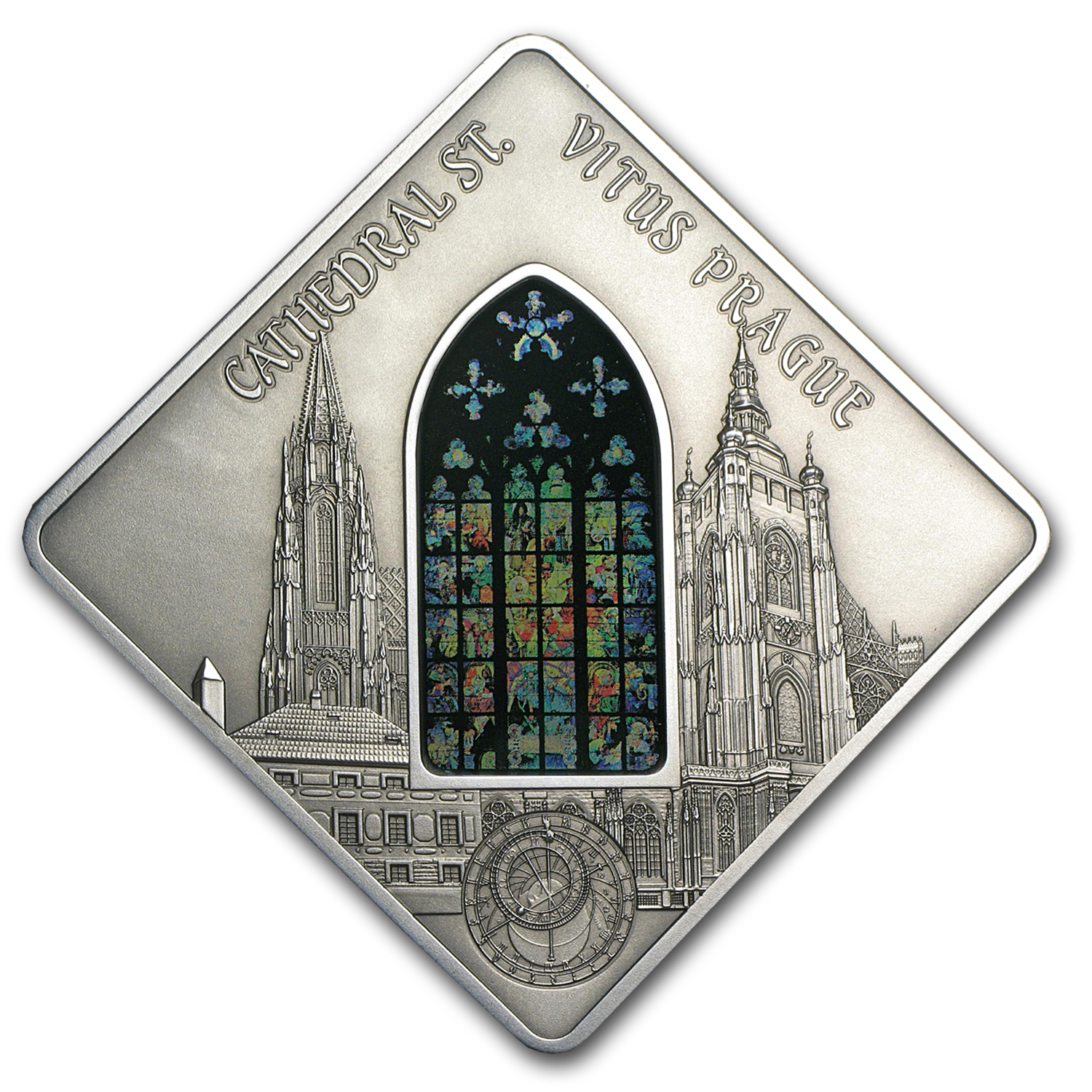 2013 Palau Proof Silver $10 St. Vitus Cathedral Prague