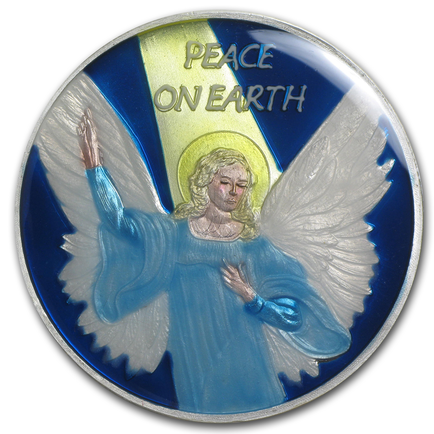 1 oz Silver Round - Peace On Earth (Enameled)