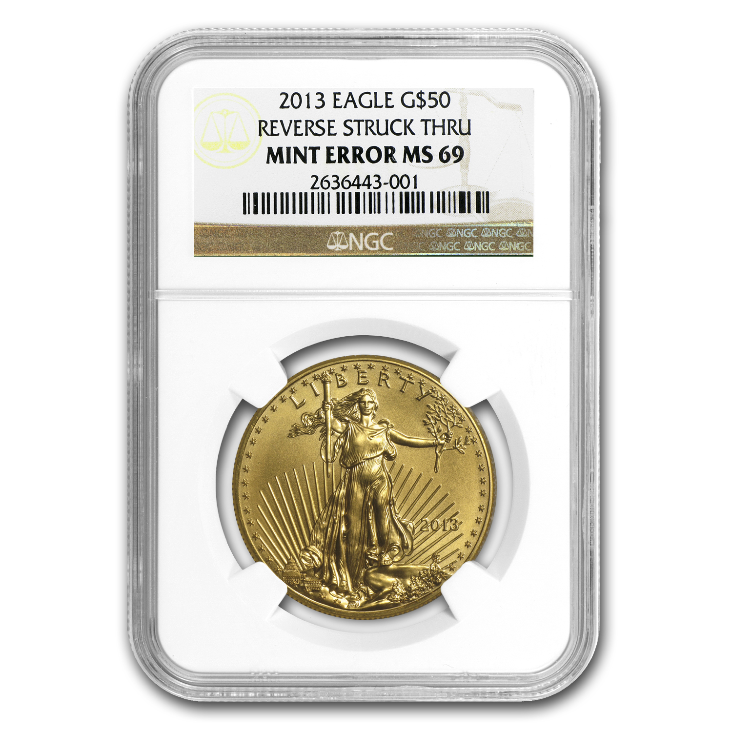 2013 1 oz Gold American Eagle NGC MS-69 (Mint Error)