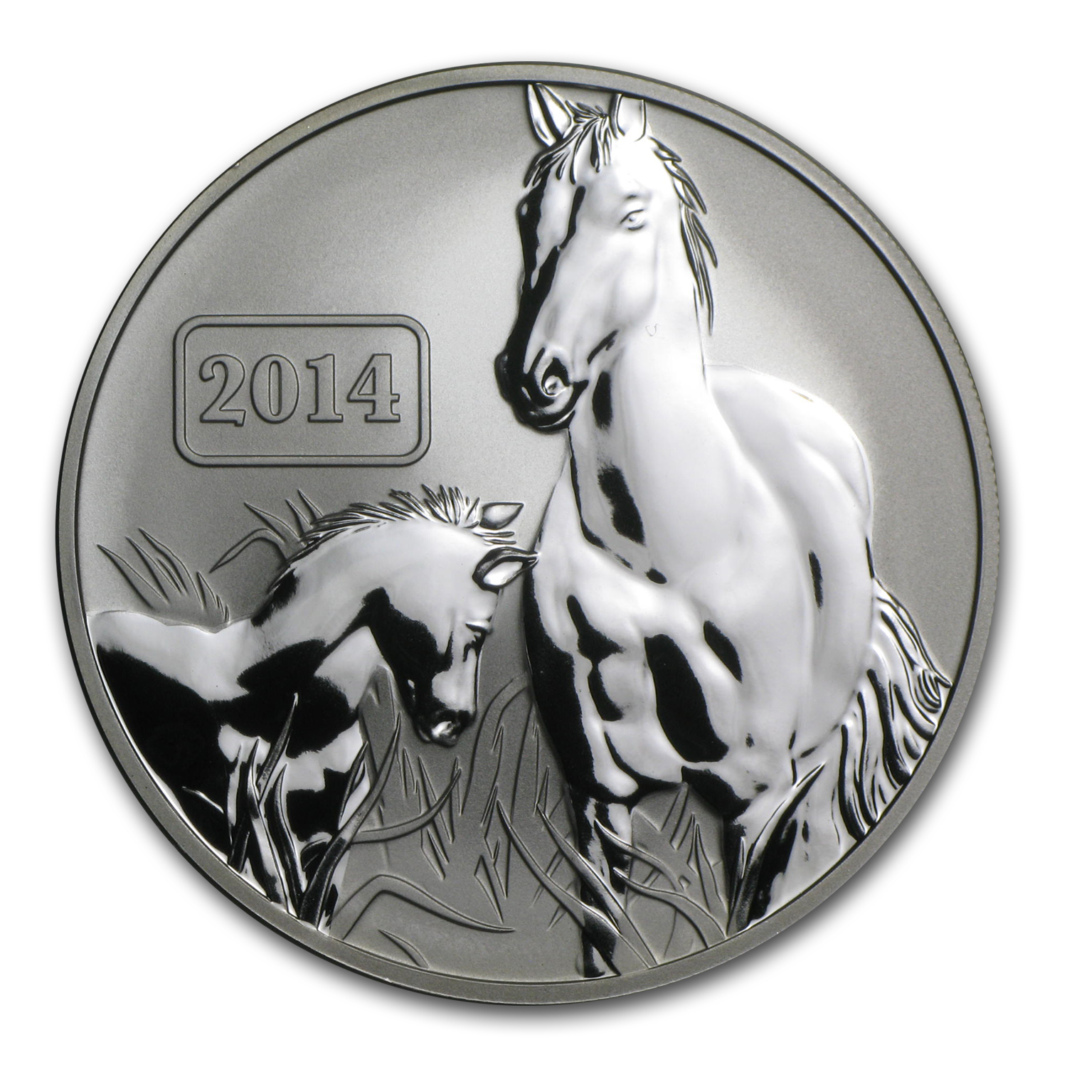 2014 Tokelau 1 oz Silver Lunar Year of the Horse Reverse Proof