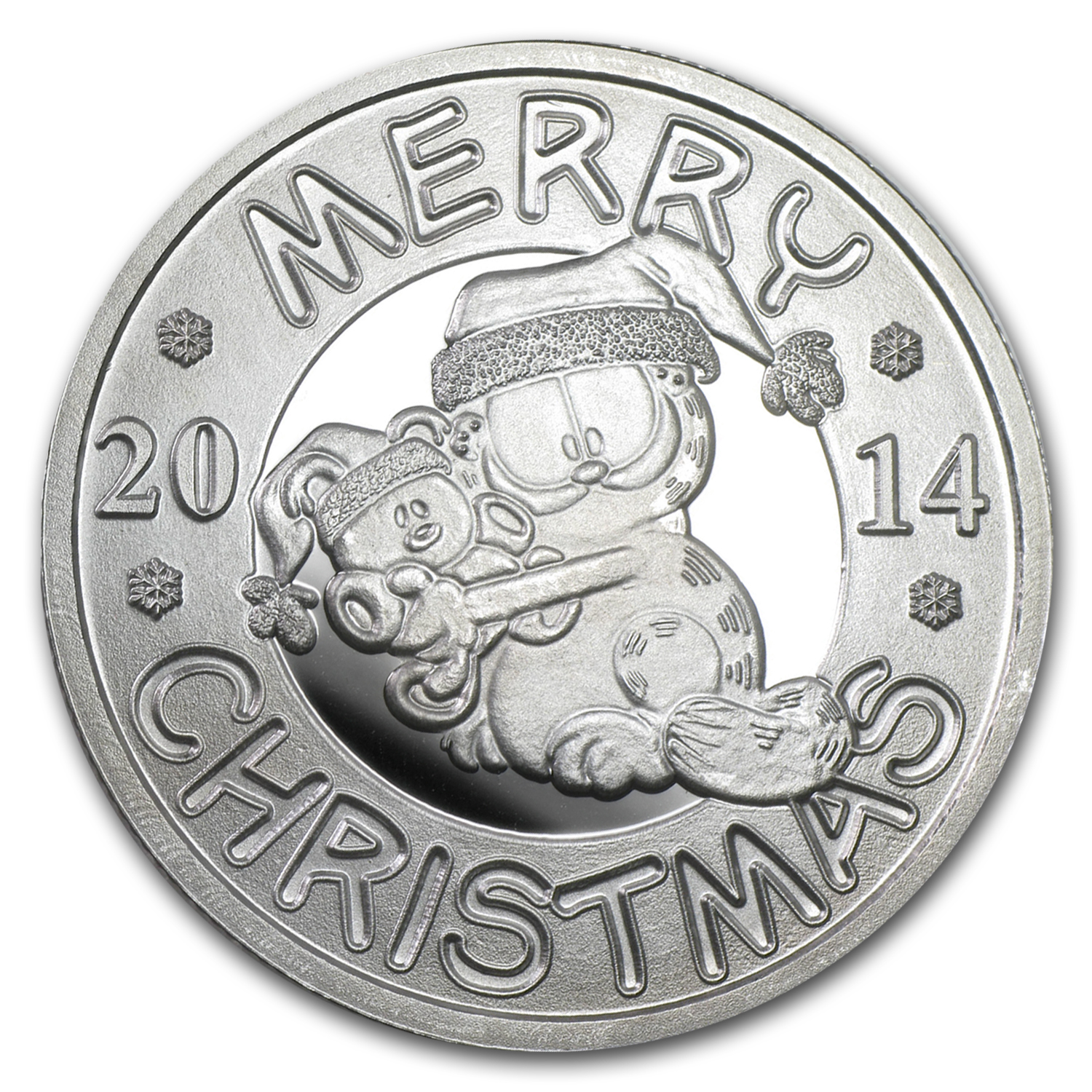 1 oz Silver Round - Merry Christmas Garfield