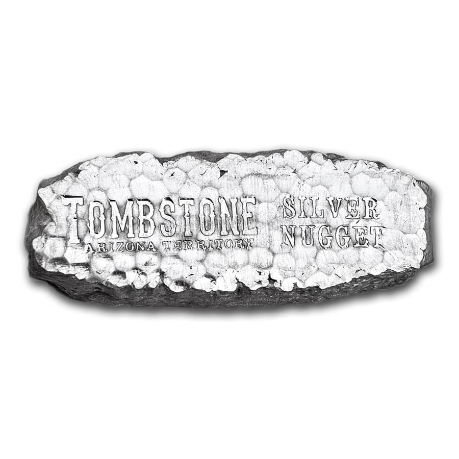 10 Oz Silver Bar Tombstone Silver Nugget 10 Oz Silver