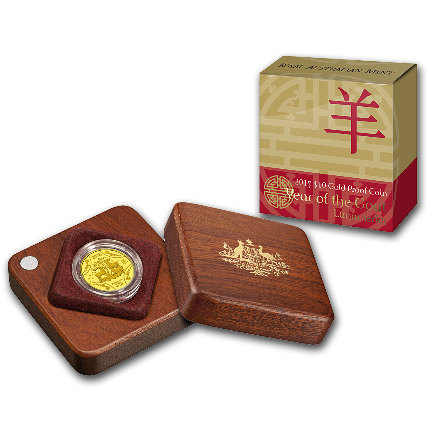 Royal Australian Mint 2015 1/10 oz Gold Proof - Year of the Goat