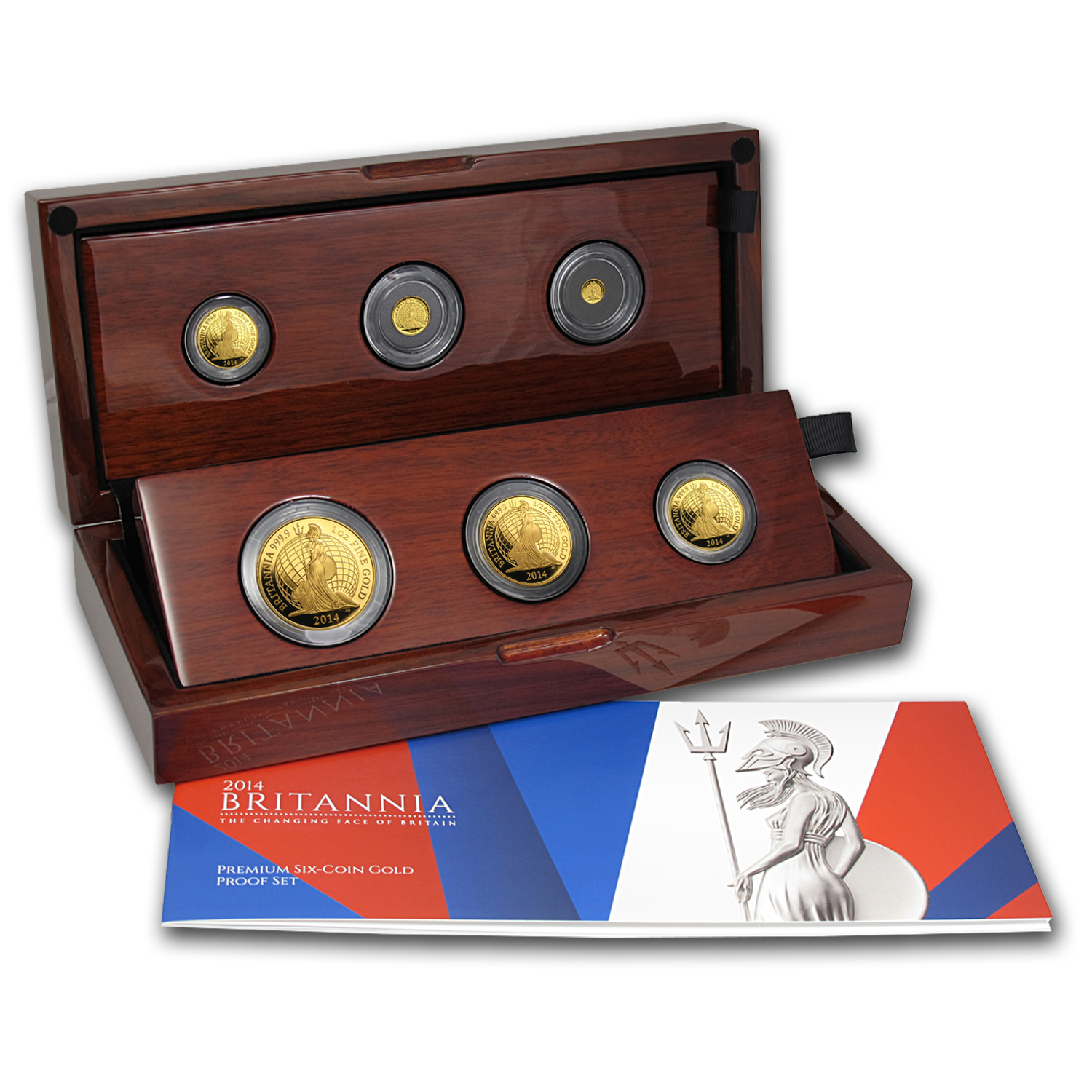 2014 6-Coin Gold Britannia Premium Proof Set (w/Box & COA)