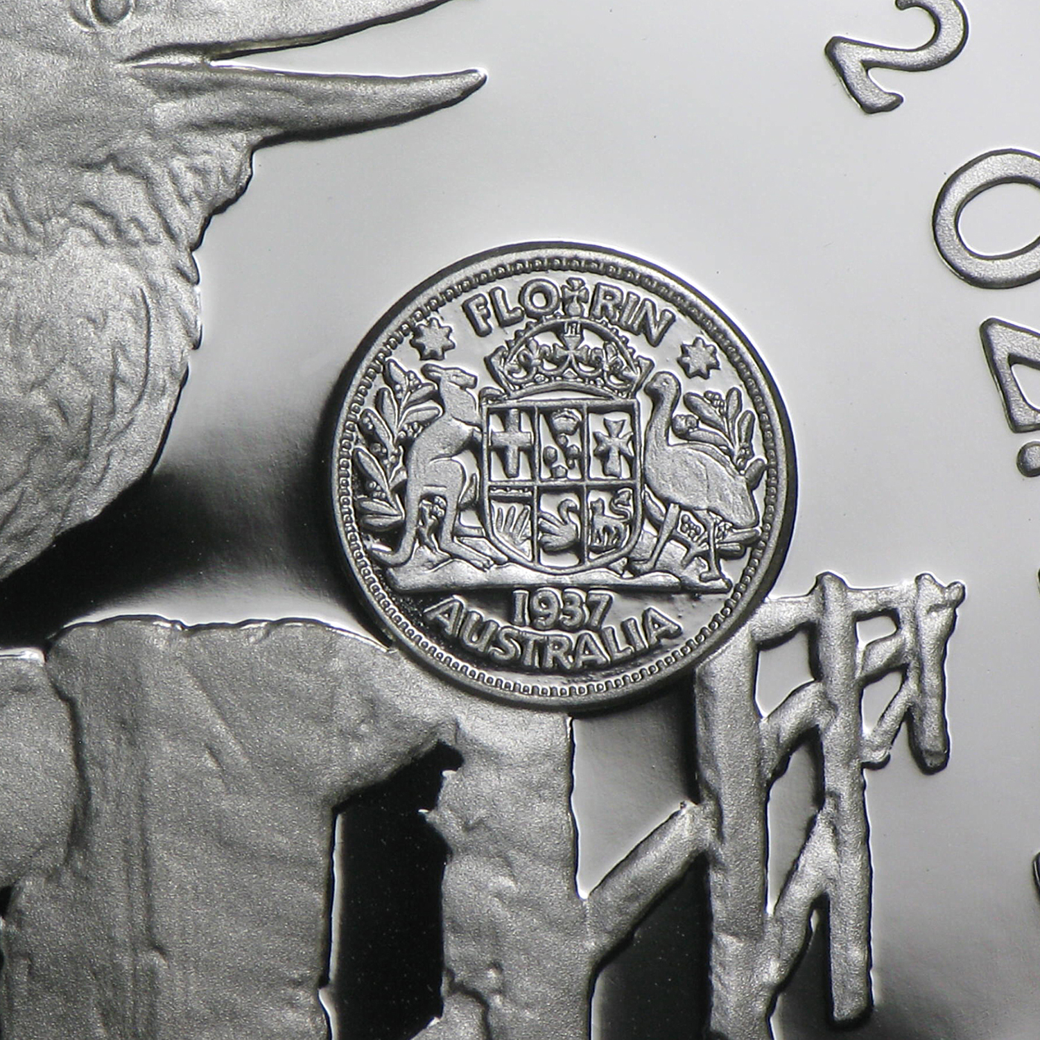 1997 Australia 2 Oz Silver Kookaburra Proof Crown Privy