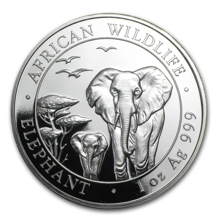 2015 Somalia 500-Coin 1 oz Silver Elephant (Sealed Box)