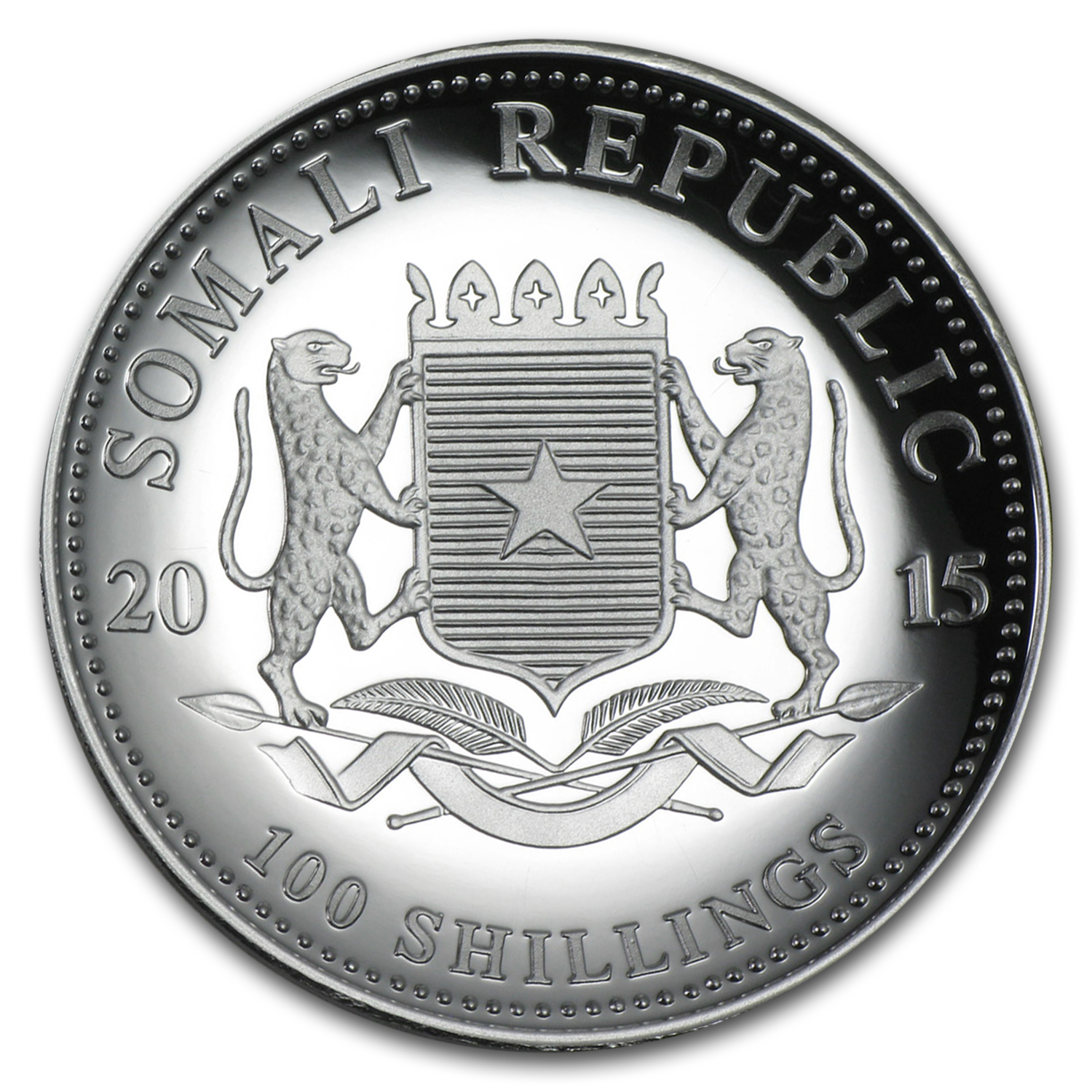 2015 Somalia 1 oz Silver Elephant (High Relief)