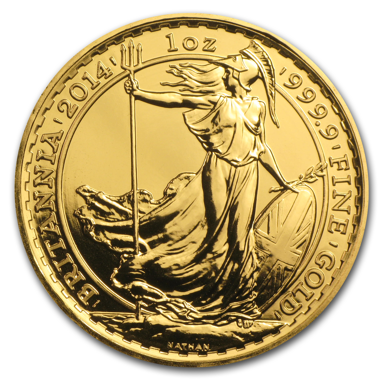 2014 1 oz Gold Great Britain BU (w/Year of the Horse Privy Mark)