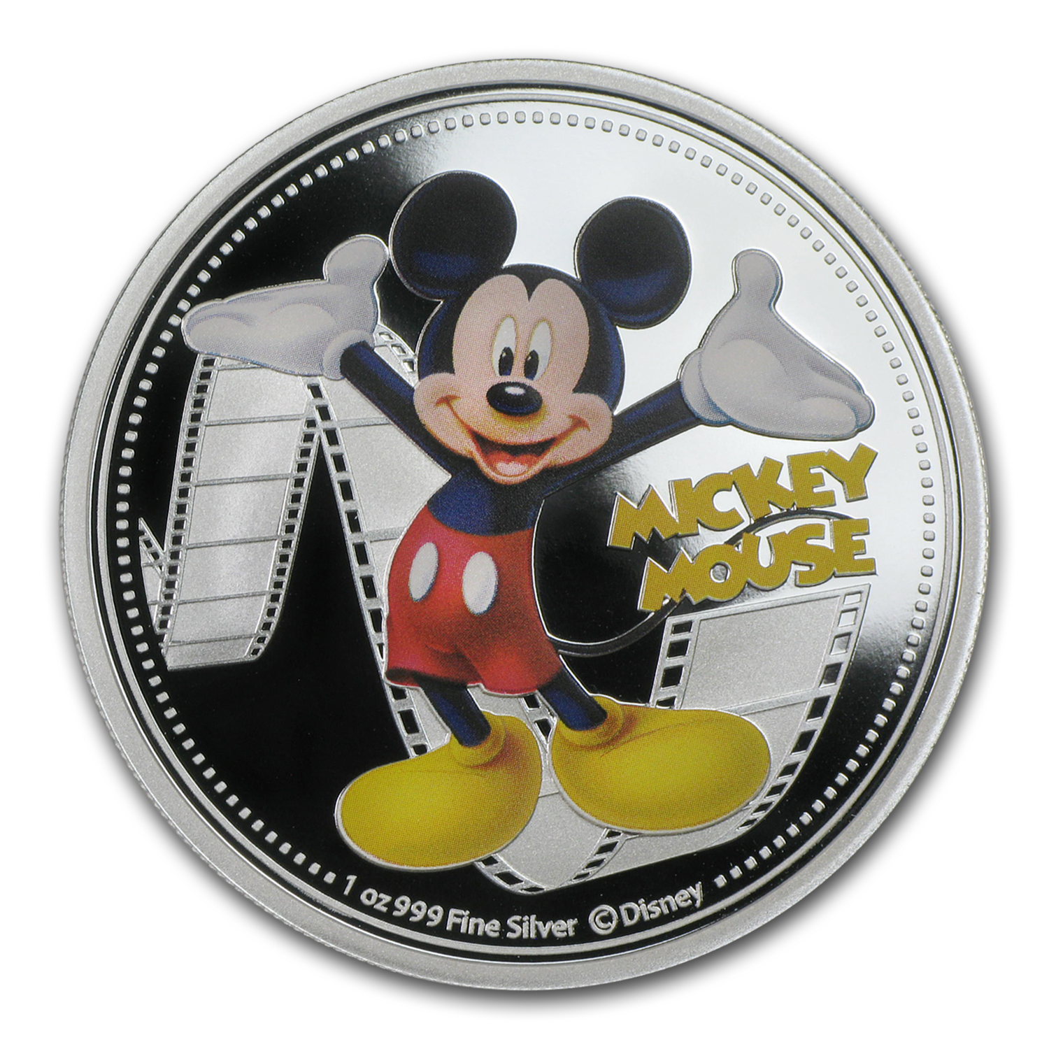 2014 1 oz Silver $2 Niue Disney Mickey Mouse (Colorized)