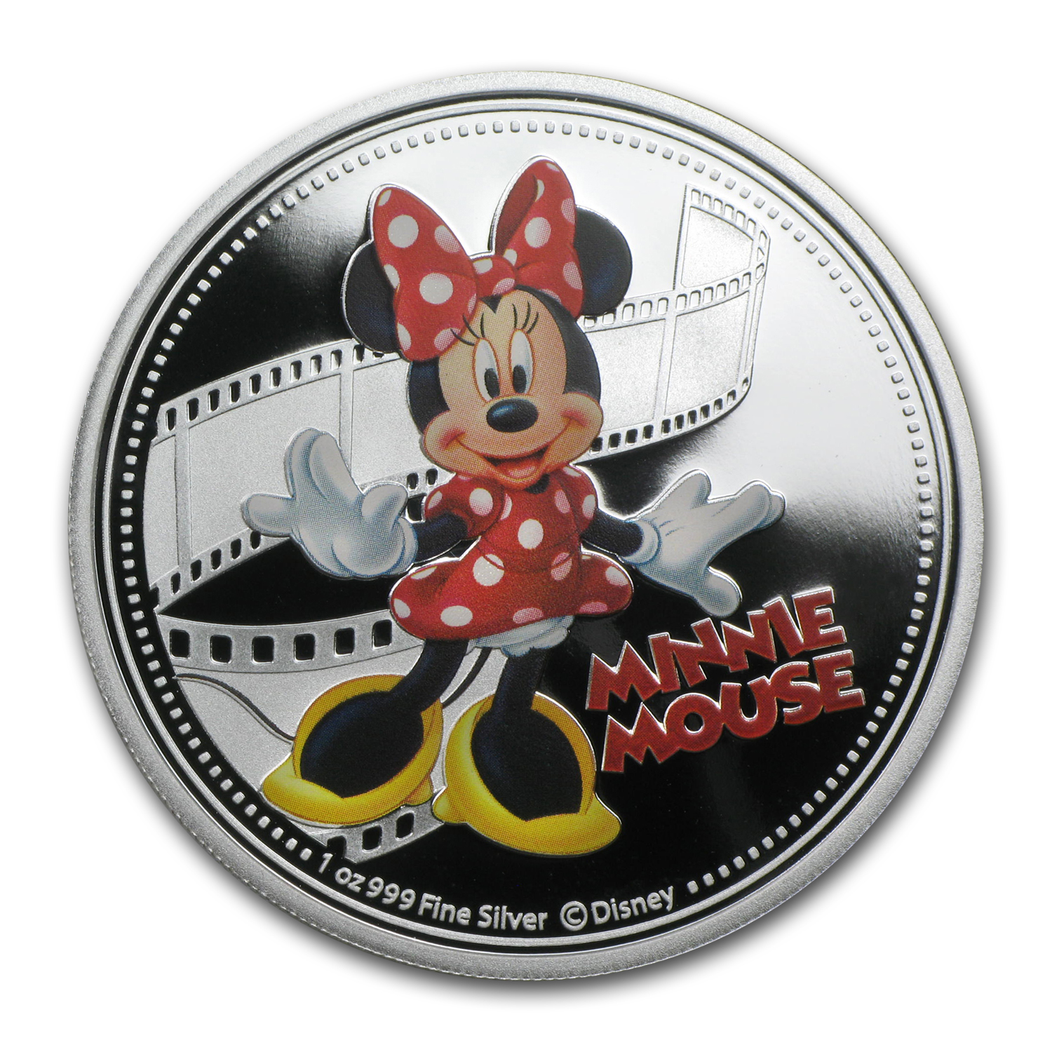 2014 1 oz Silver $2 Niue Disney Minnie Mouse (Colorized)