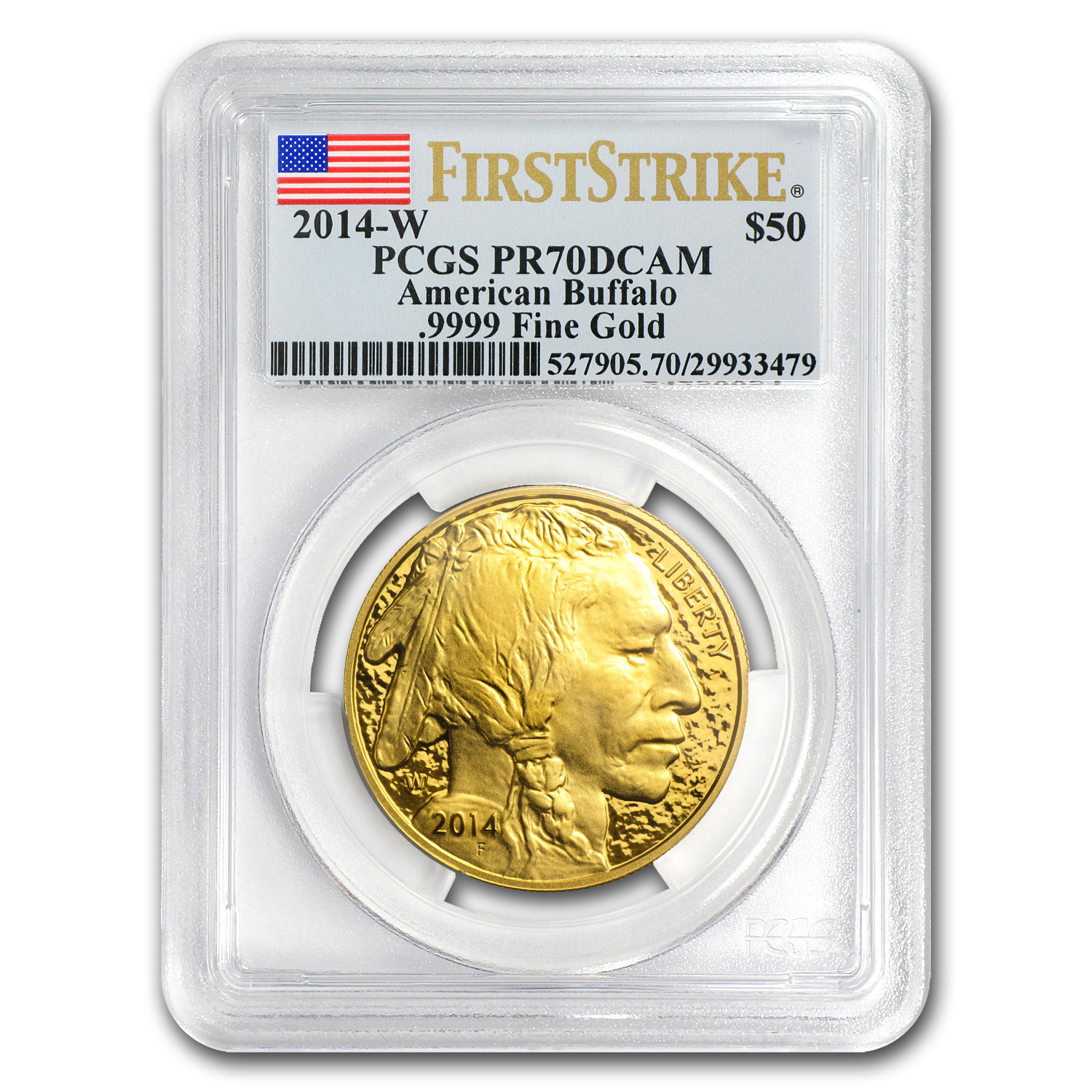 2014-W 1 oz Proof Gold Buffalo PR-70 PCGS (First Strike)