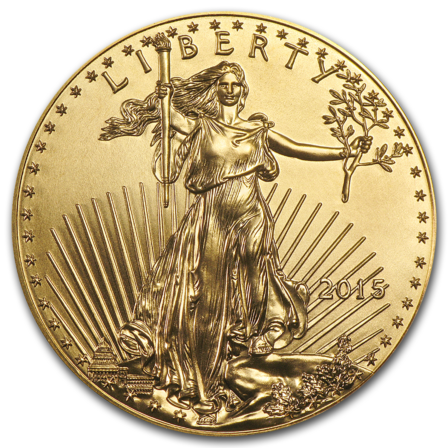 2015 1/2 oz Gold American Eagle BU