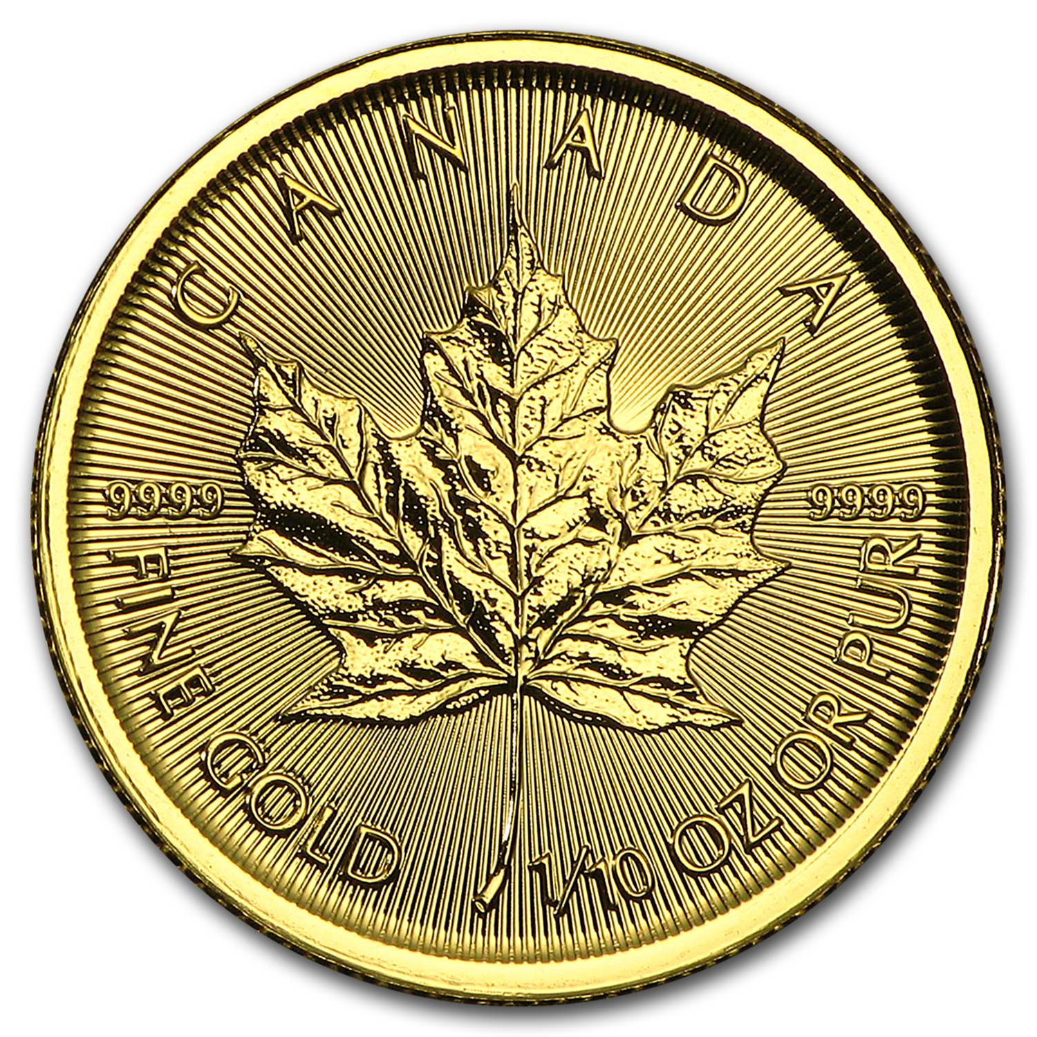 2015 Canada 1/10 oz Gold Maple Leaf BU