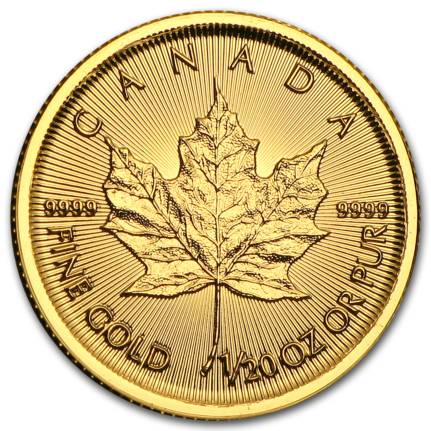 2015 Canada 1/20 oz Gold Maple Leaf BU