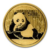 2016 China 15 gram Gold Panda BU (Sealed)