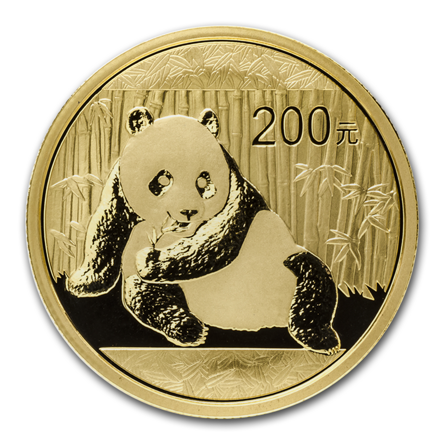 2015 China 1/2 oz Gold Panda BU (Sealed)