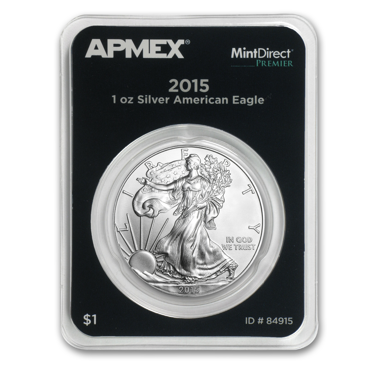 2015 1 oz Silver Eagle (MintDirect® Premier Single) 1/23