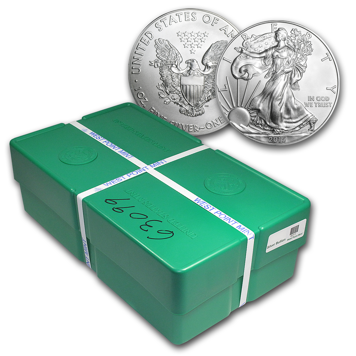 2015 500-Coin Silver American Eagle Monster Box (Sealed)