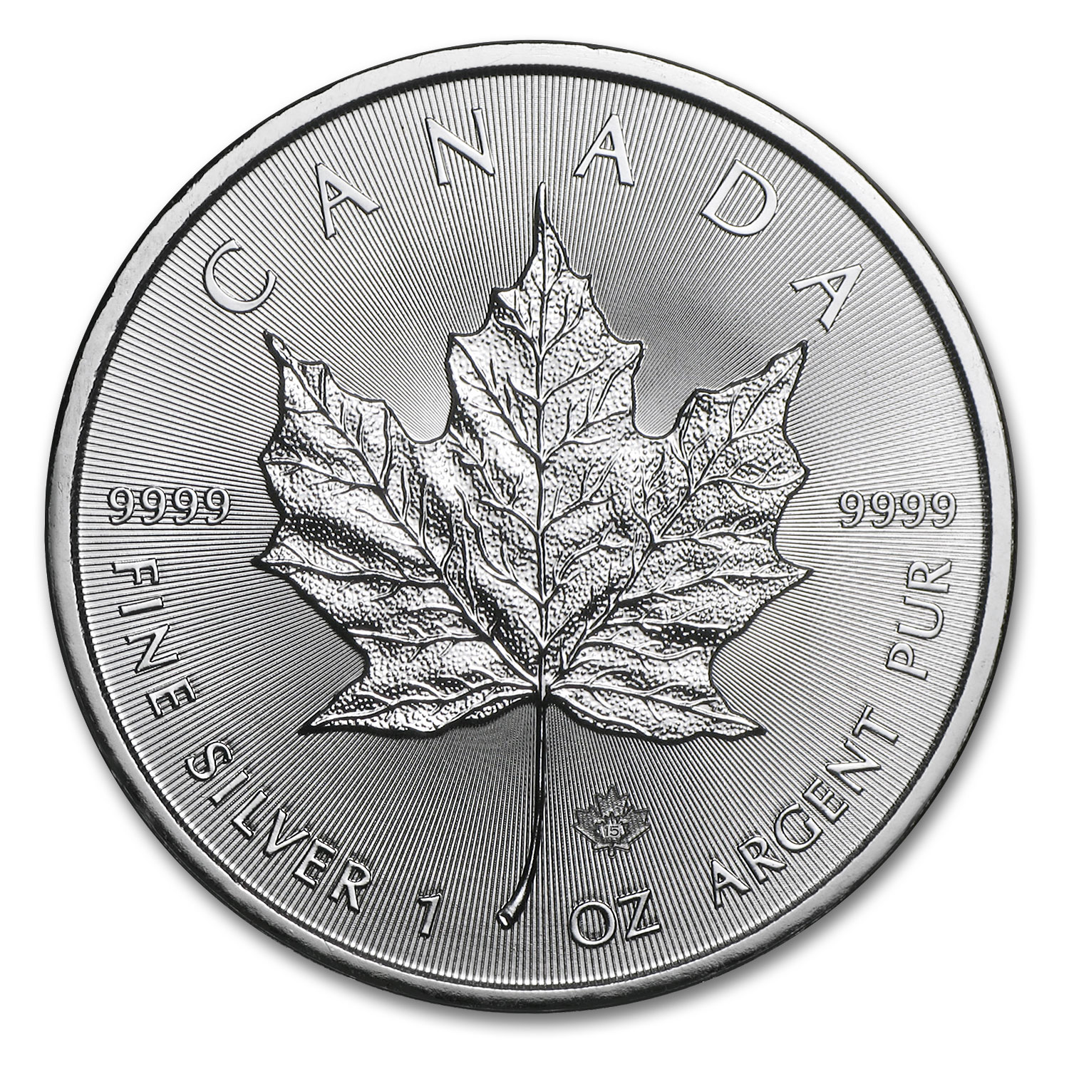 2015 Canada 1 oz Silver Maple Leaf BU ( Sept 22nd )