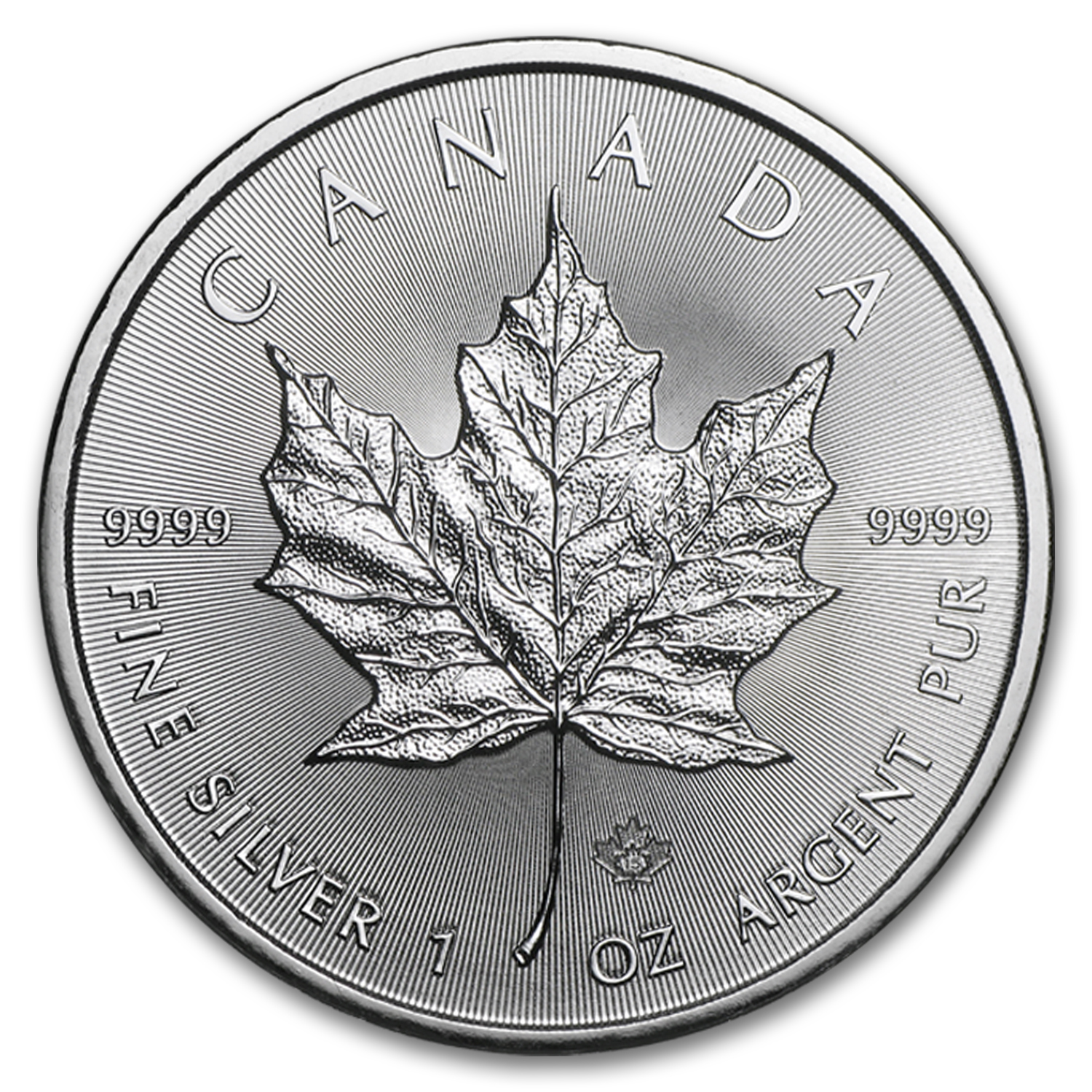 2015 Canada 1 oz Silver Maple Leaf (25-Coin MintDirect® Tube)