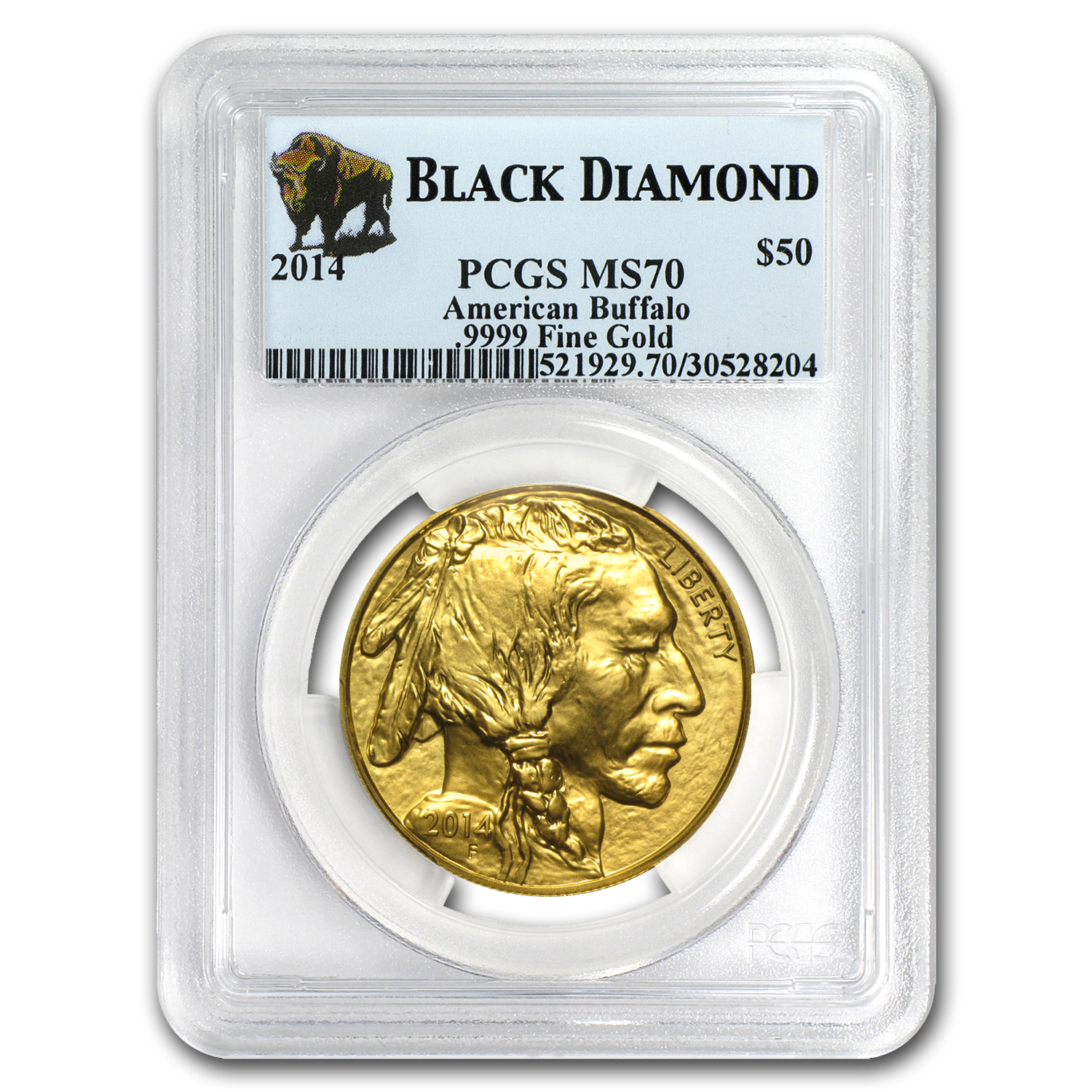 2014 1 oz Gold Buffalo MS-70 PCGS (Black Diamond)
