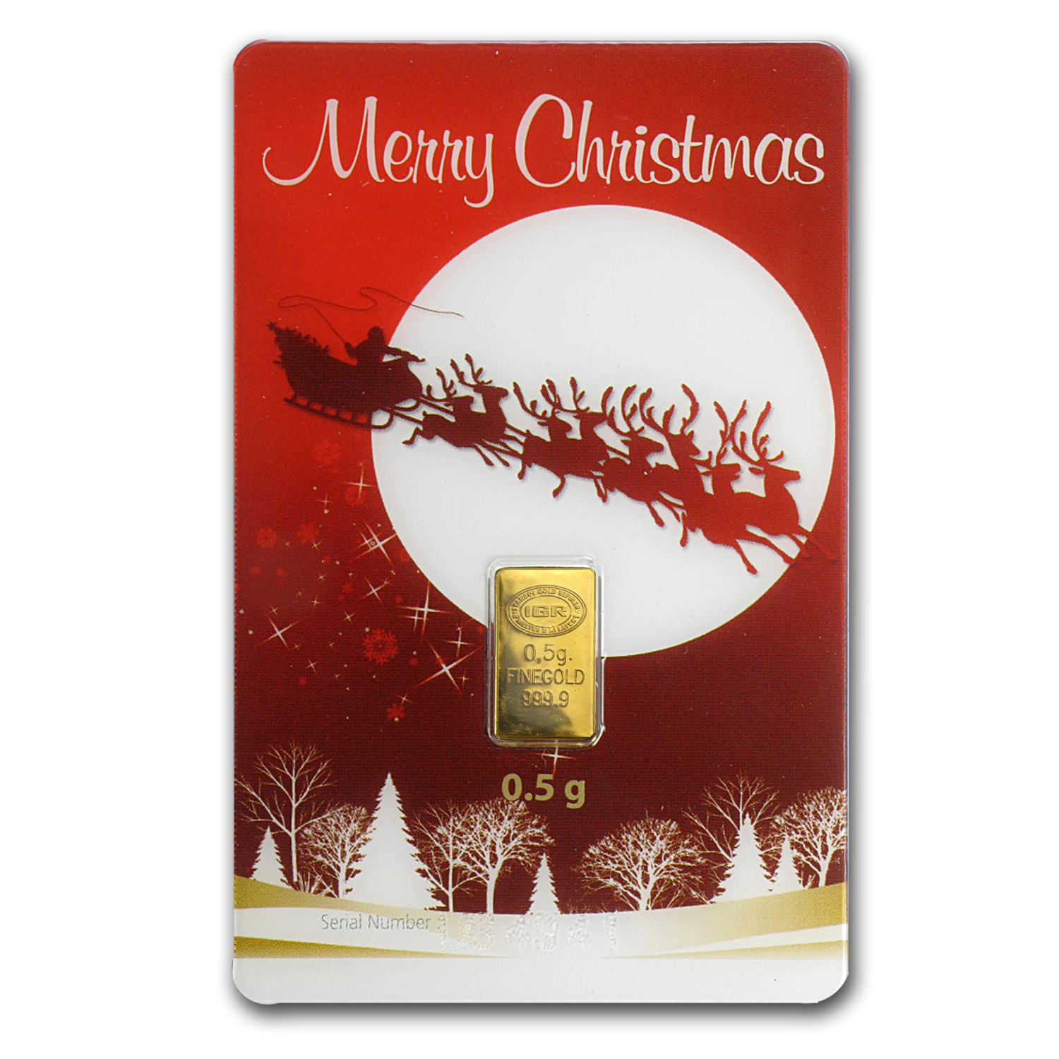 1/2 gram Gold Bar - Istanbul Gold Refinery (Christmas Assay)